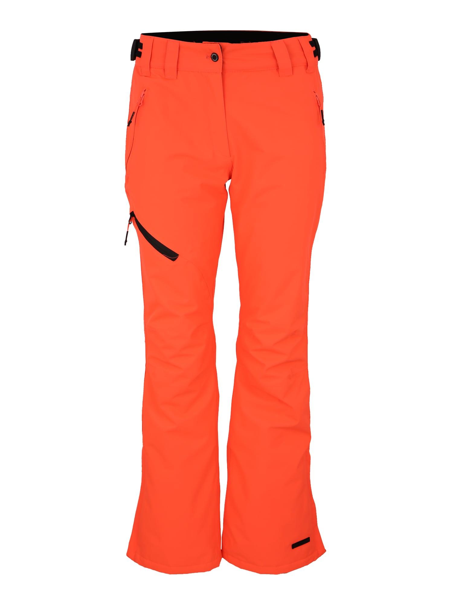 Sportovní kalhoty Josie tmavě oranžová černá ICEPEAK