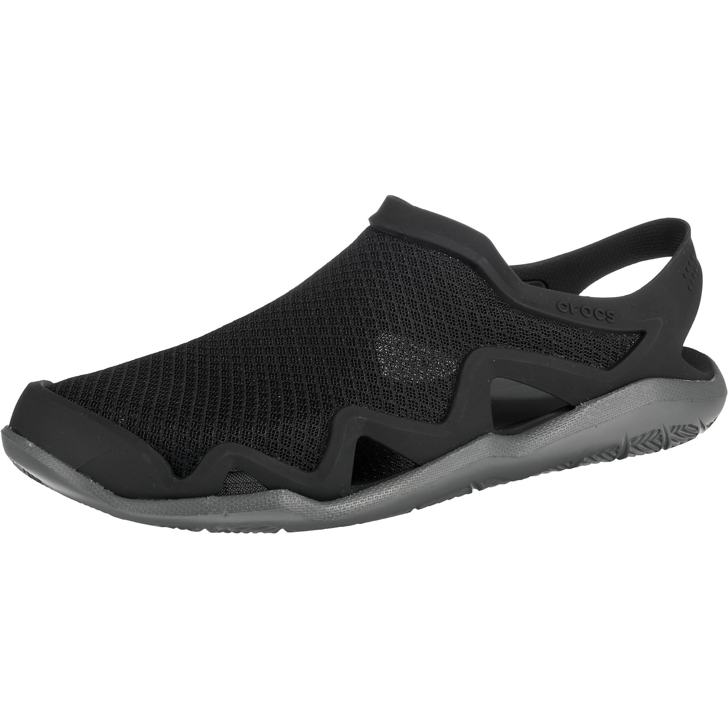 Herren Crocs Komfort-Sandalen 'Swiftwater Mesh Wave M Blk/SGy' schwarz | 00191448331549