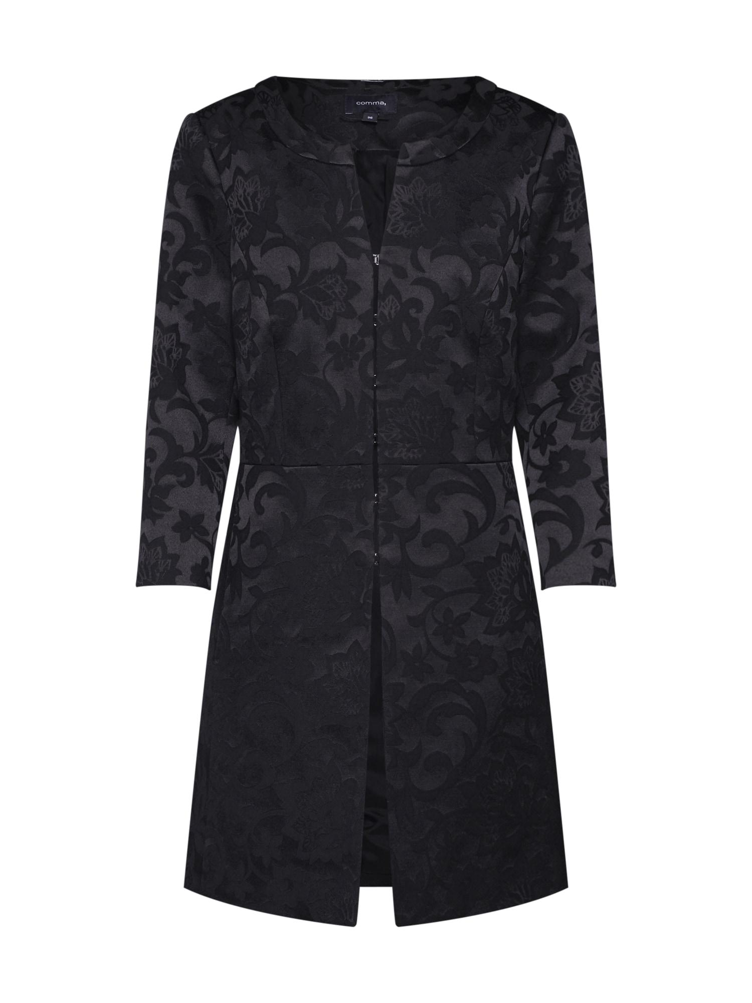Přechodný kabát černá COMMA