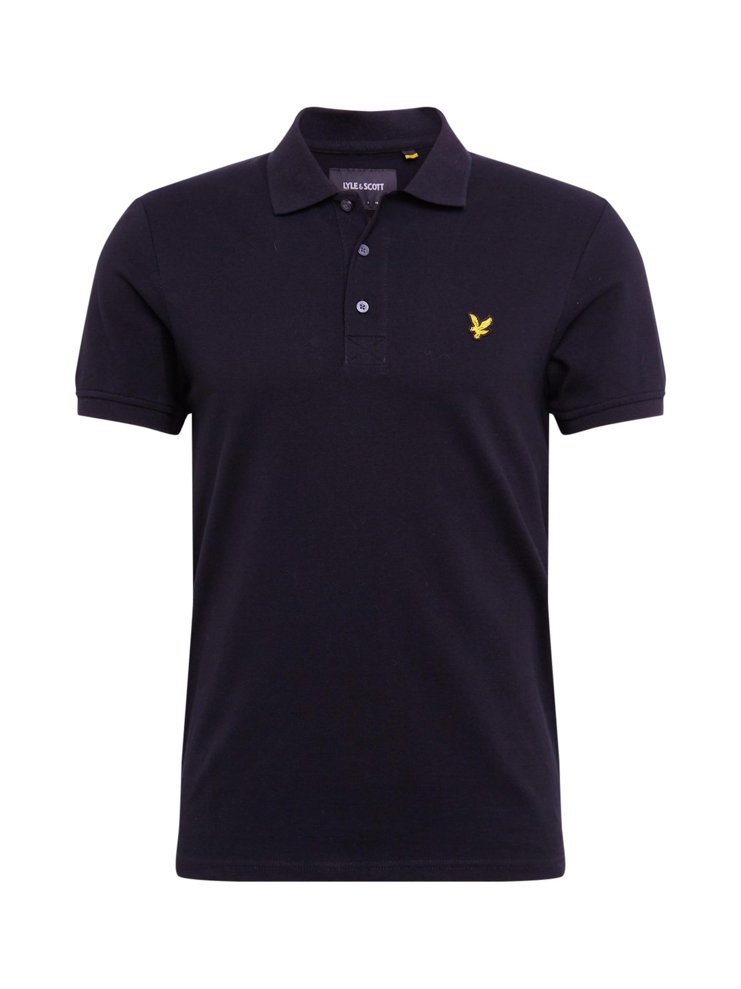 Lyle & Scott Marškinėliai juoda / geltona
