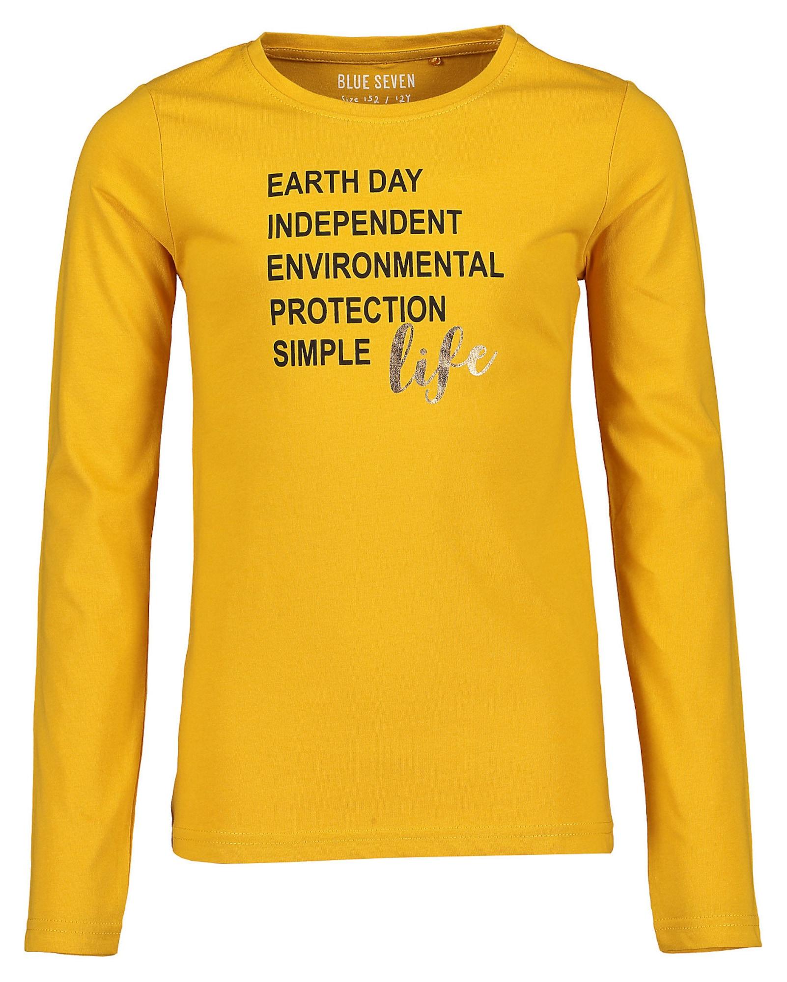 BLUE SEVEN Marškinėliai oranžinė / juoda / sidabrinė