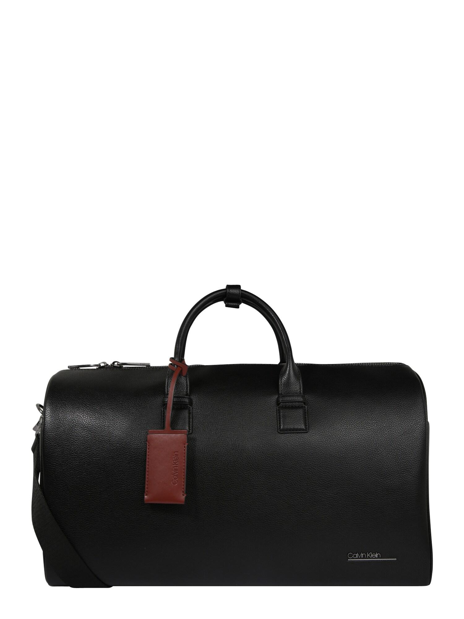 Calvin Klein Savaitgalio krepšys 'CK BOMBE' juoda