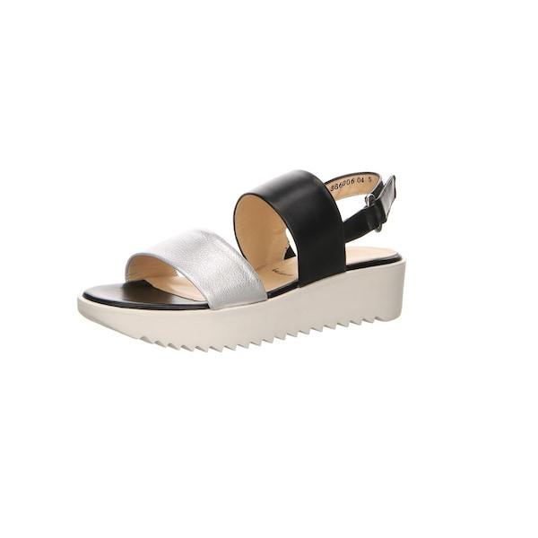 Sandalen für Frauen - PETER KAISER Sandaletten schwarz silber  - Onlineshop ABOUT YOU