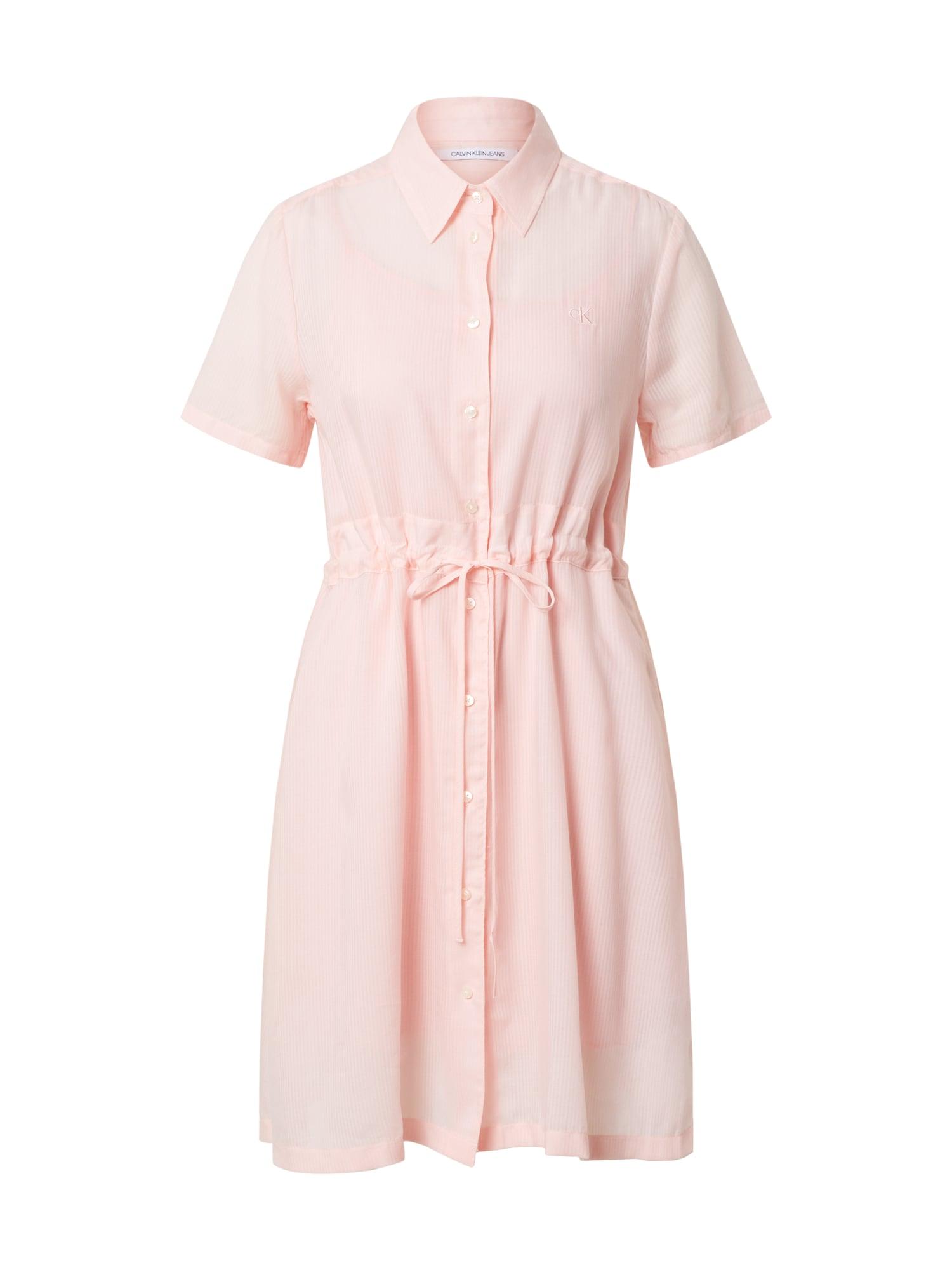 Calvin Klein Jeans Palaidinės tipo suknelė rožių spalva