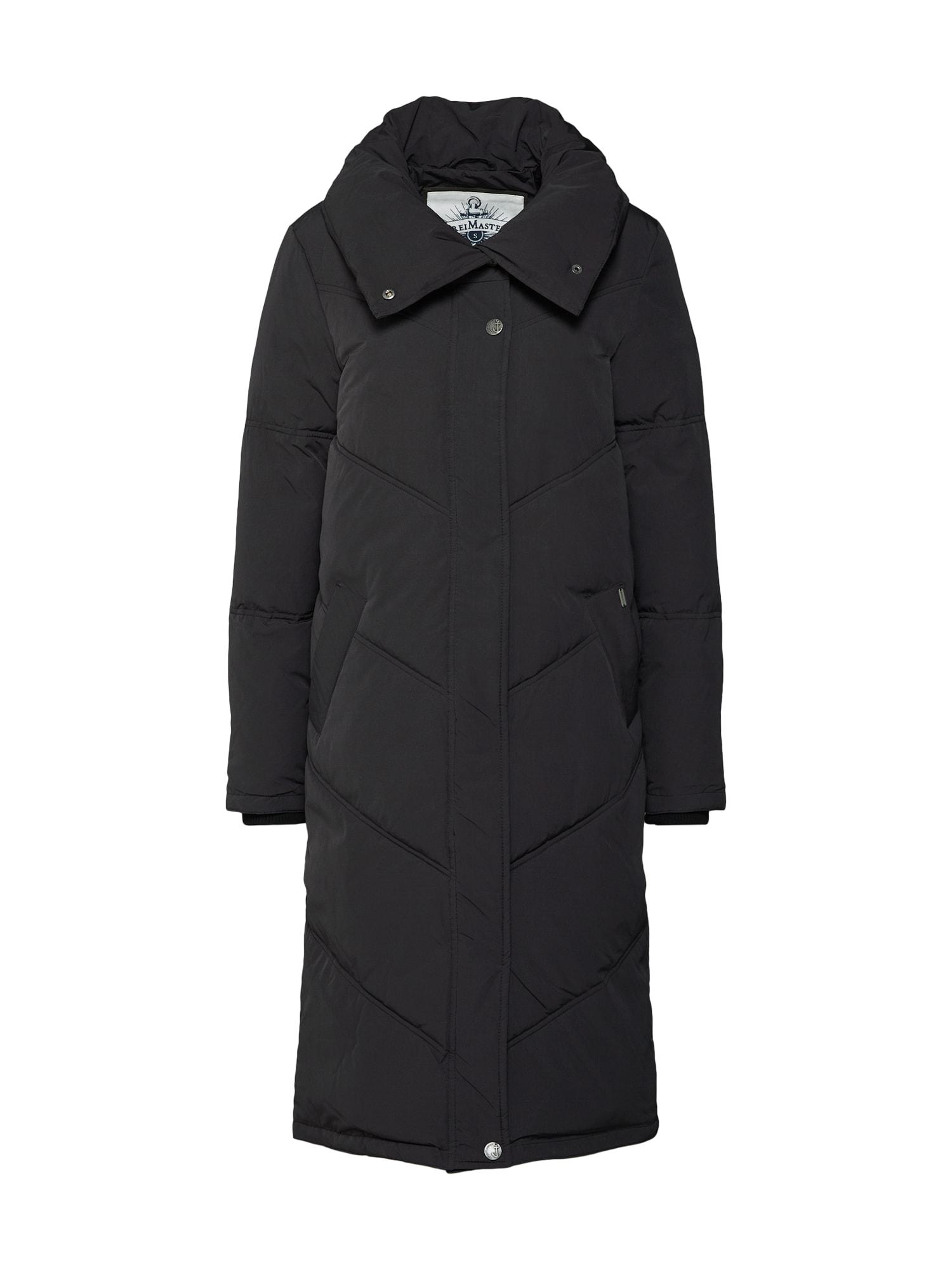 Zimní kabát DAMEN MANTEL černá DREIMASTER