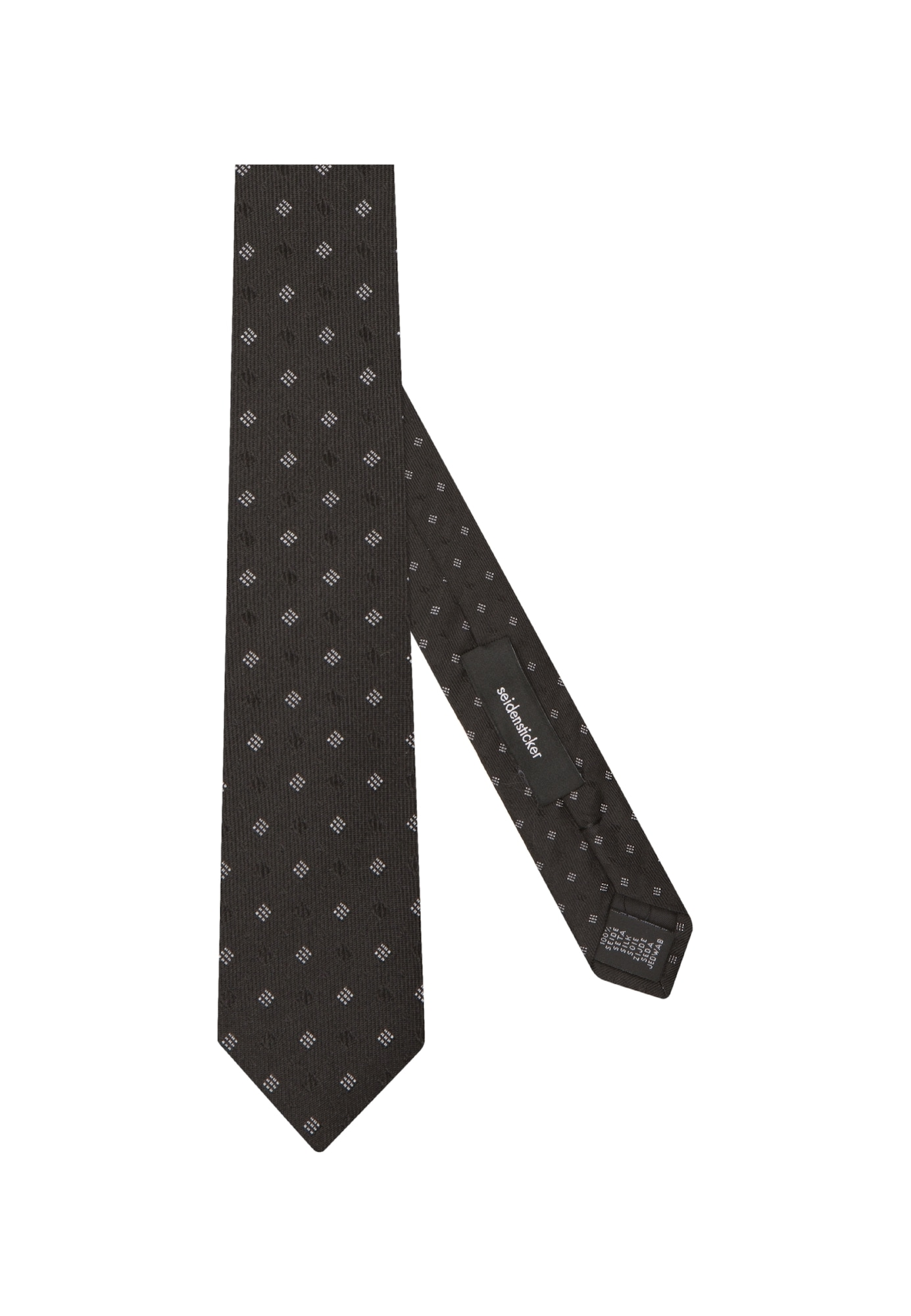 SEIDENSTICKER Cravate 'Slim'  noir / blanc