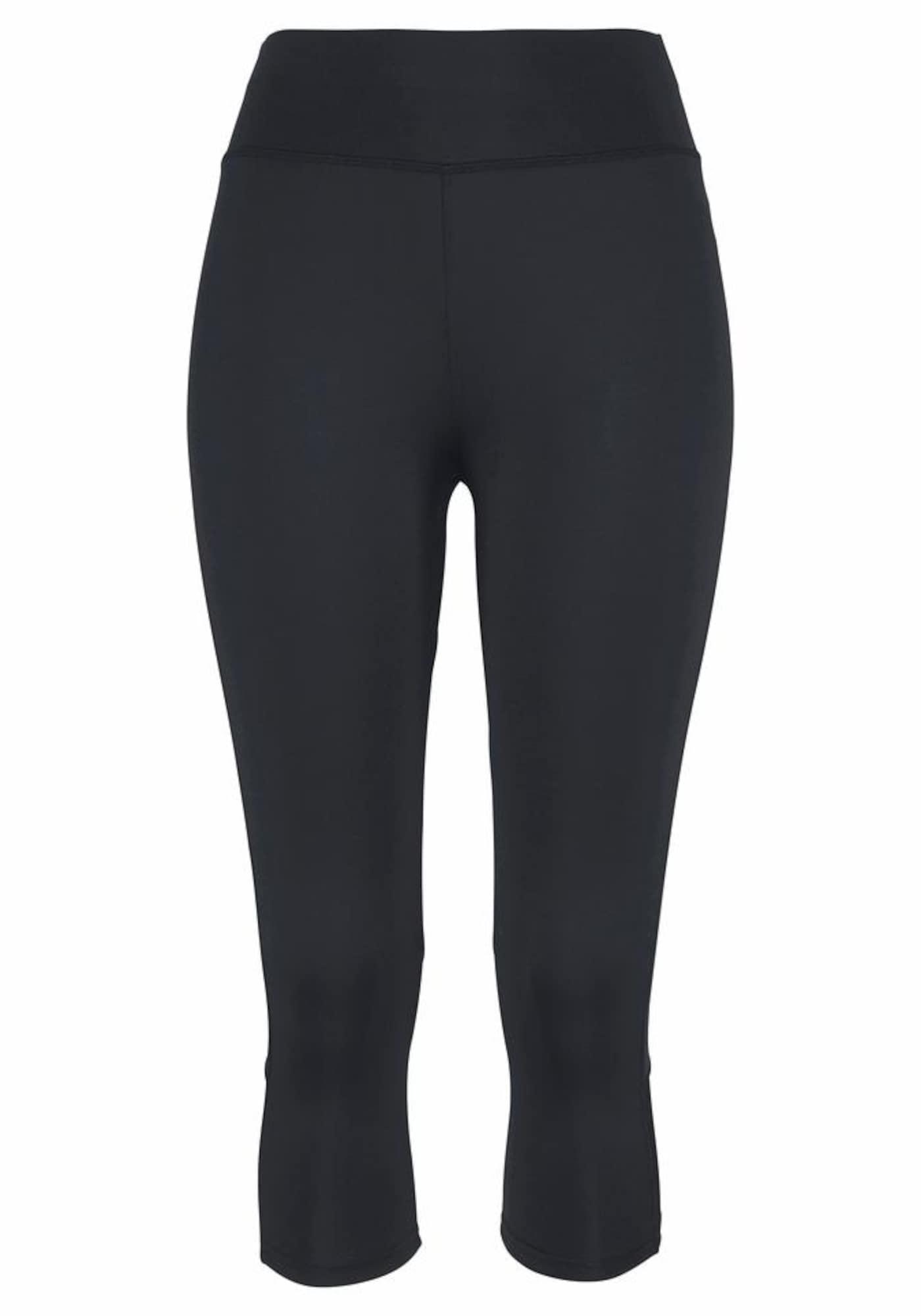 LASCANA ACTIVE Sportinės kelnės juoda