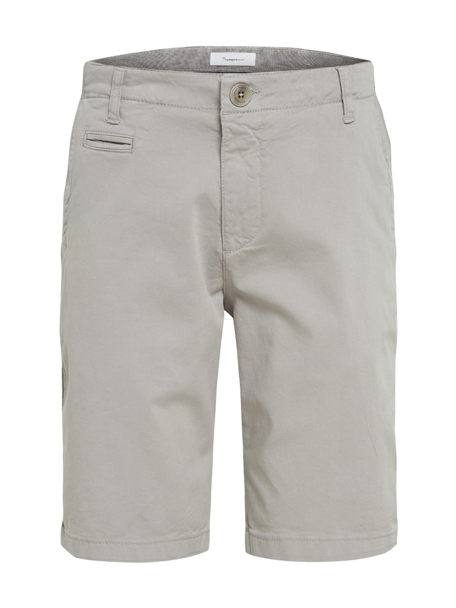 KnowledgeCotton Apparel Chino stiliaus kelnės 'CHUCK' pilka