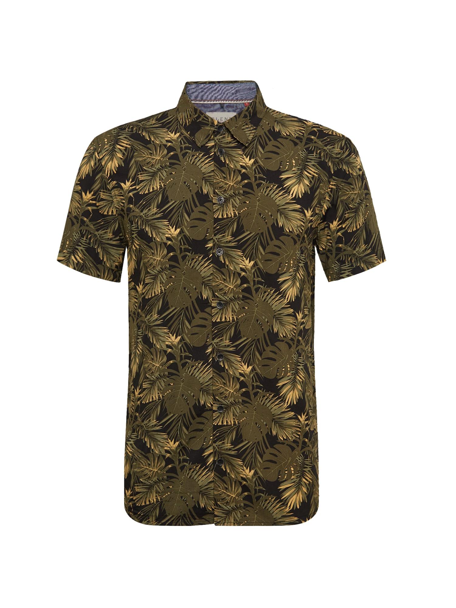 BLEND Dalykiniai marškiniai alyvuogių spalva