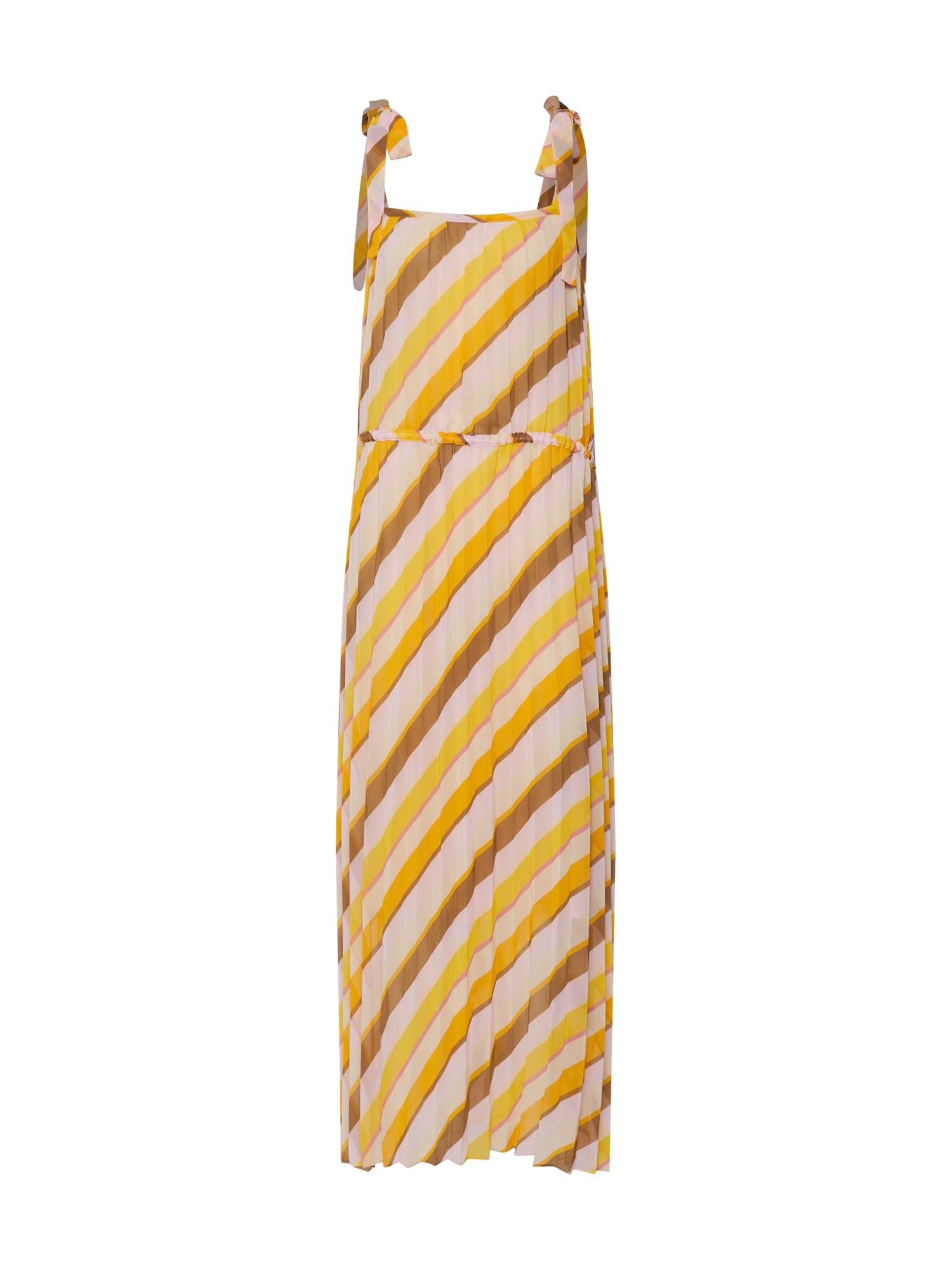 Letní šaty žlutá mix barev SECOND FEMALE