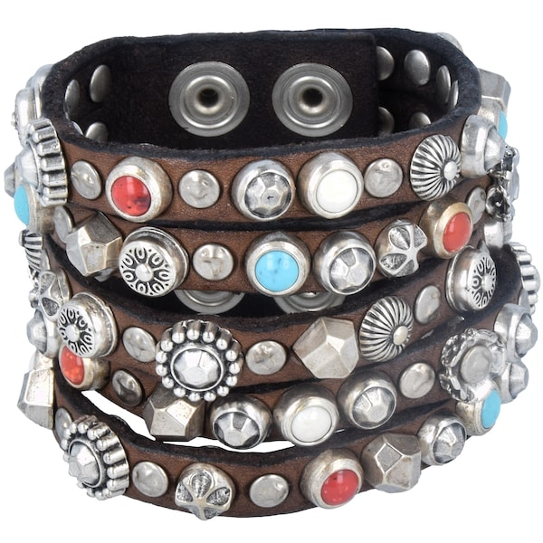 Armbaender - Armband › Campomaggi › hellblau braun rot silber  - Onlineshop ABOUT YOU