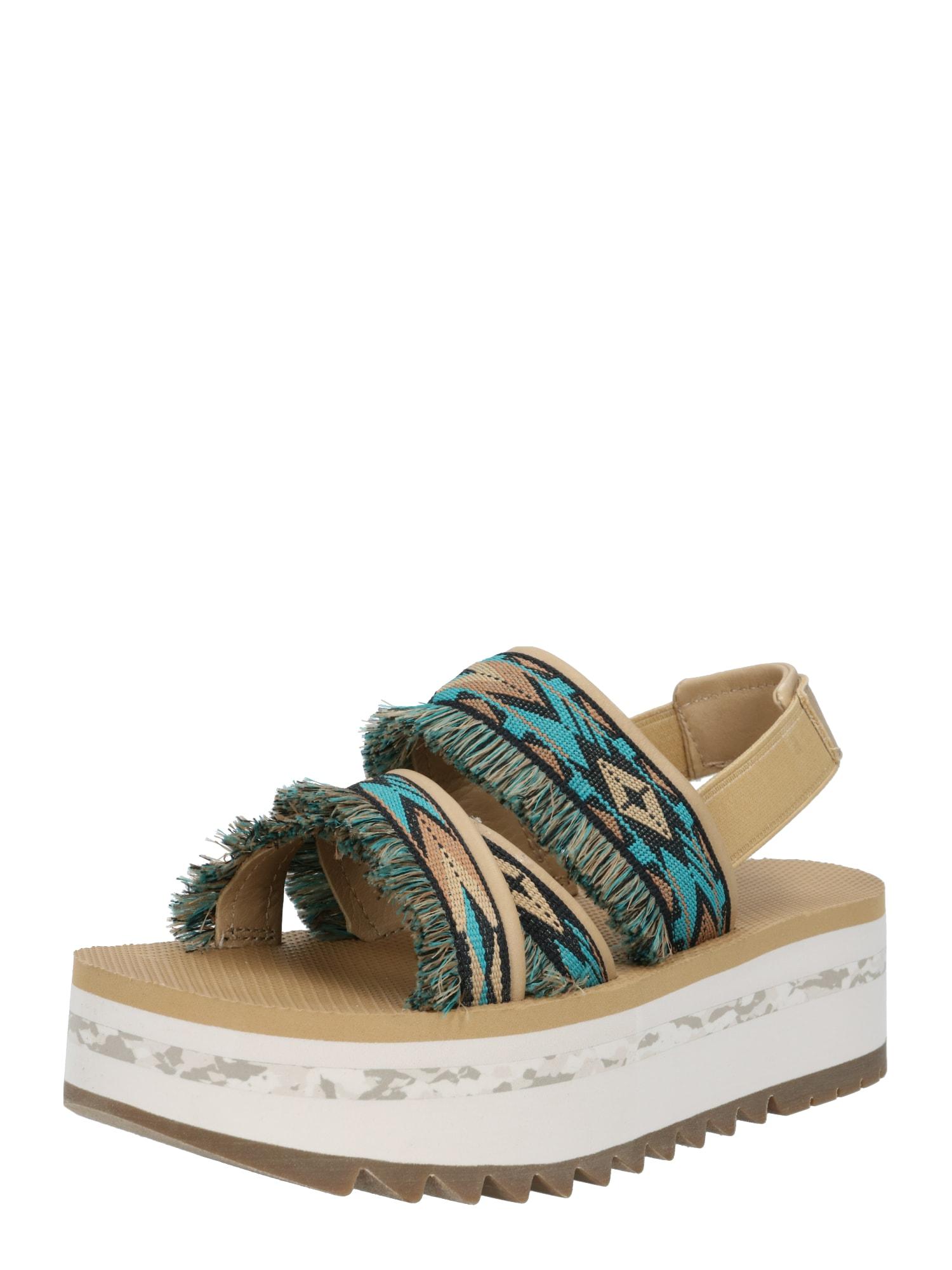TEVA Sandalai gelsvai pilka spalva / mėlyna / šviesiai ruda