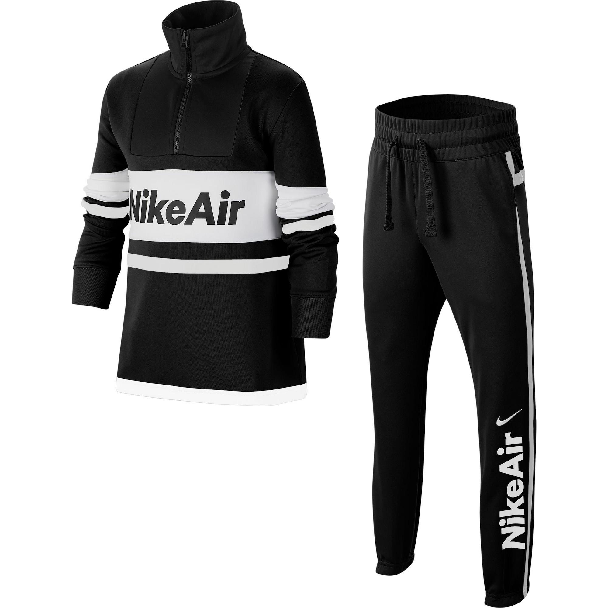 Nike Sportswear Treniruočių kostiumas 'Air' juoda / balta