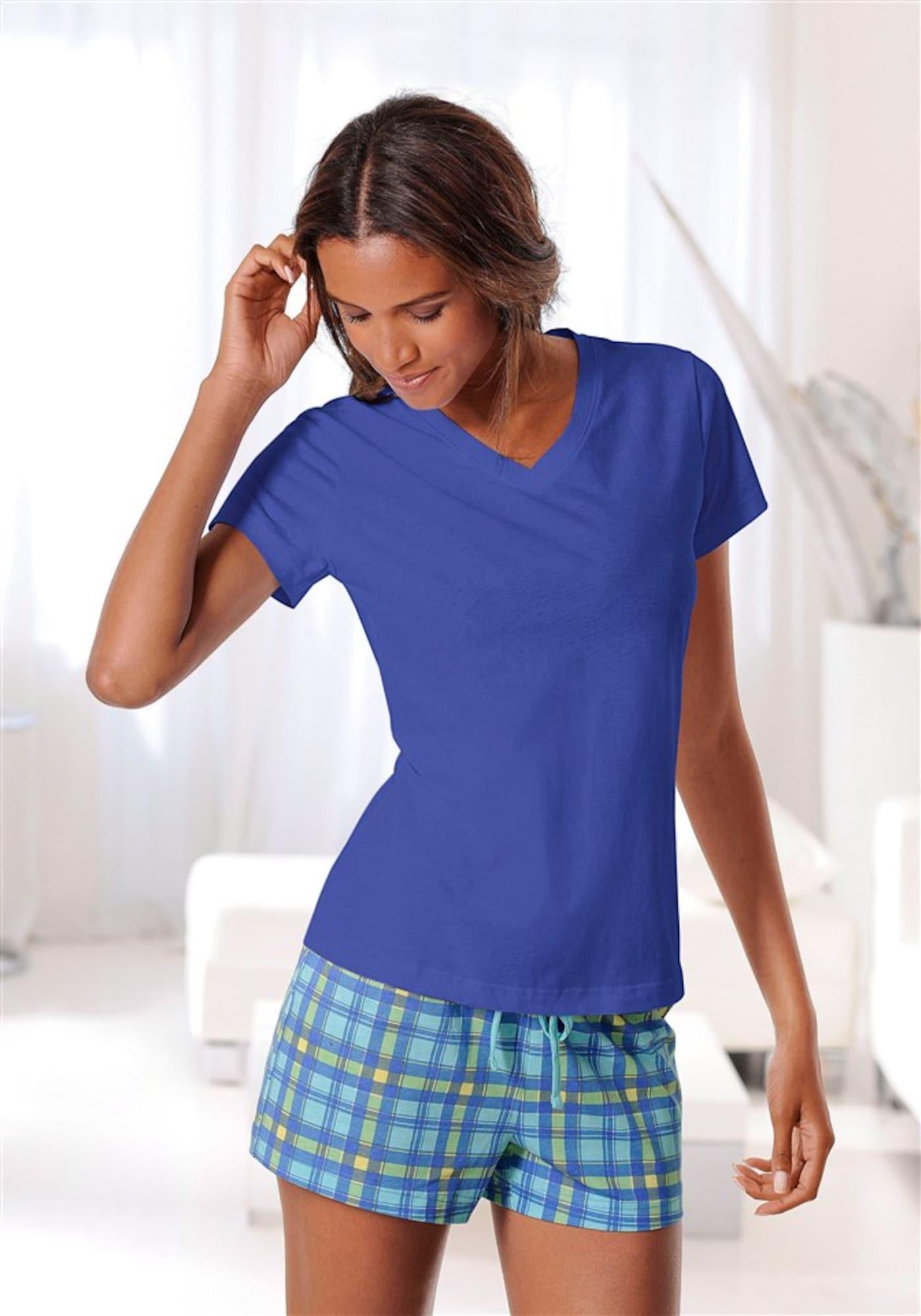 H.I.S Pižama su šortais tamsiai mėlyna
