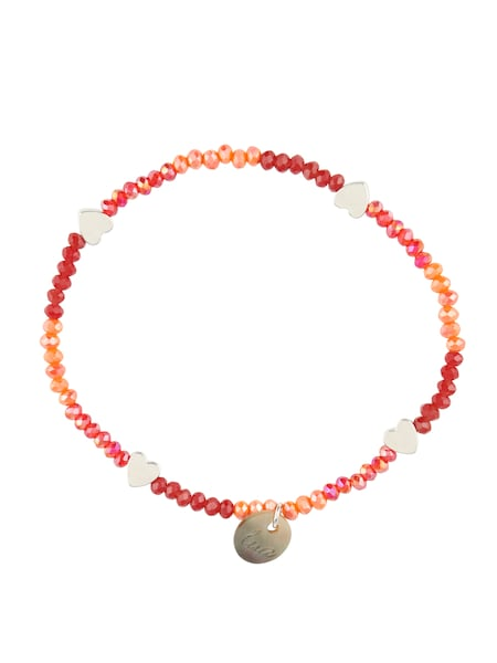 Armbaender für Frauen - Lua Accessories Armband 'Glammy' rot silber  - Onlineshop ABOUT YOU