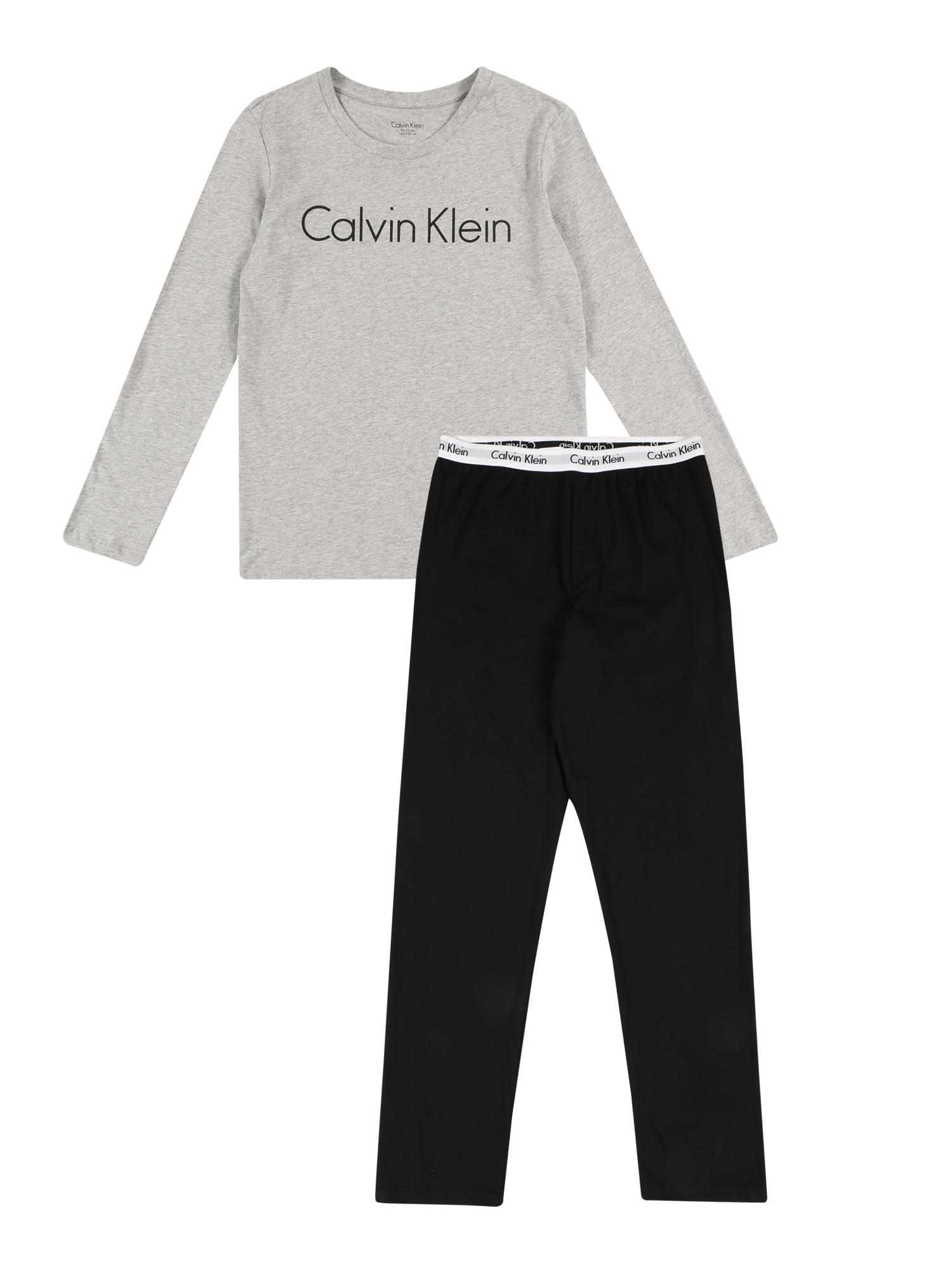 Calvin Klein Underwear Miego kostiumas juoda / pilka