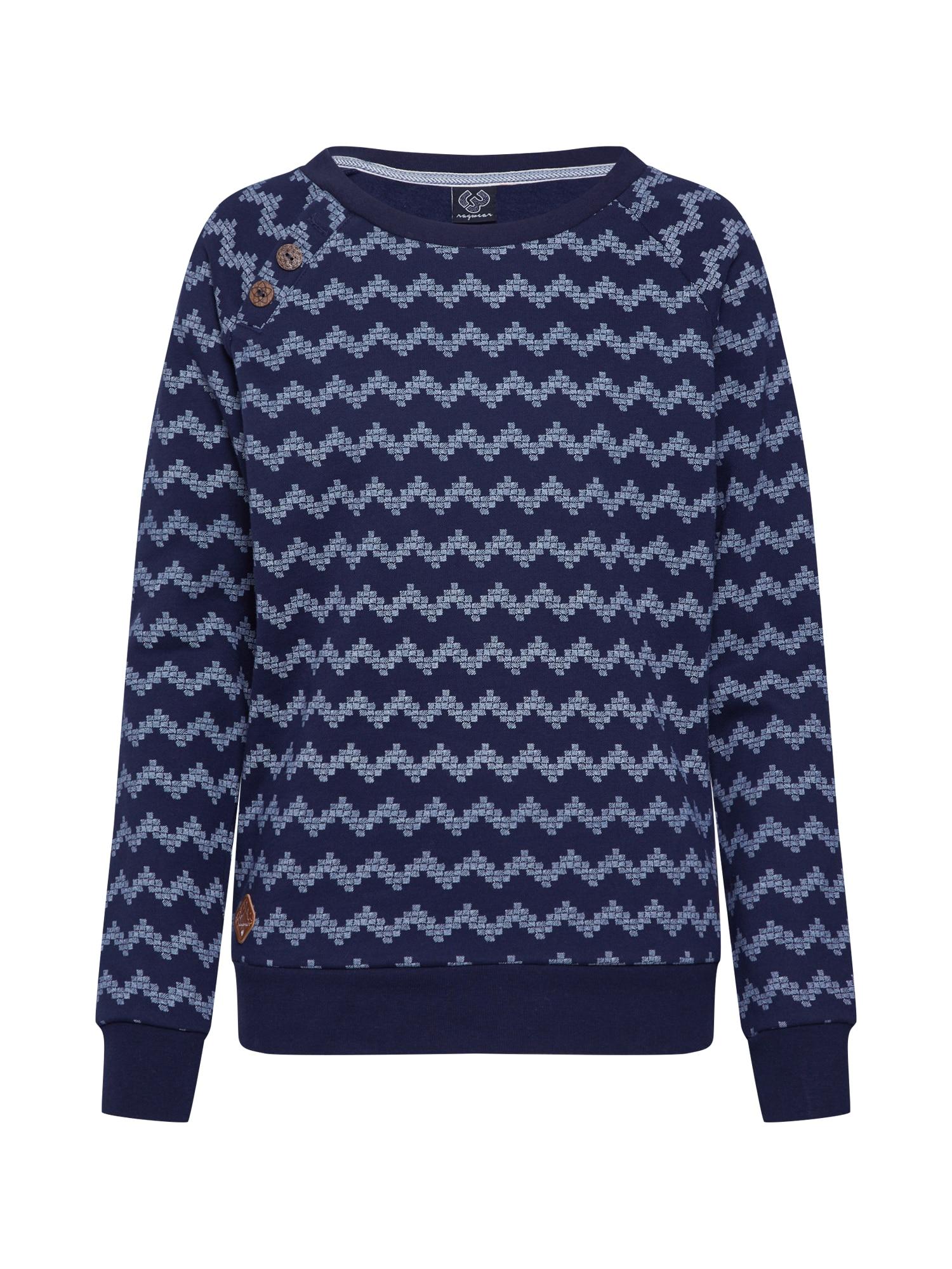 Ragwear Bluză de molton 'Daria Zig Zag'  navy