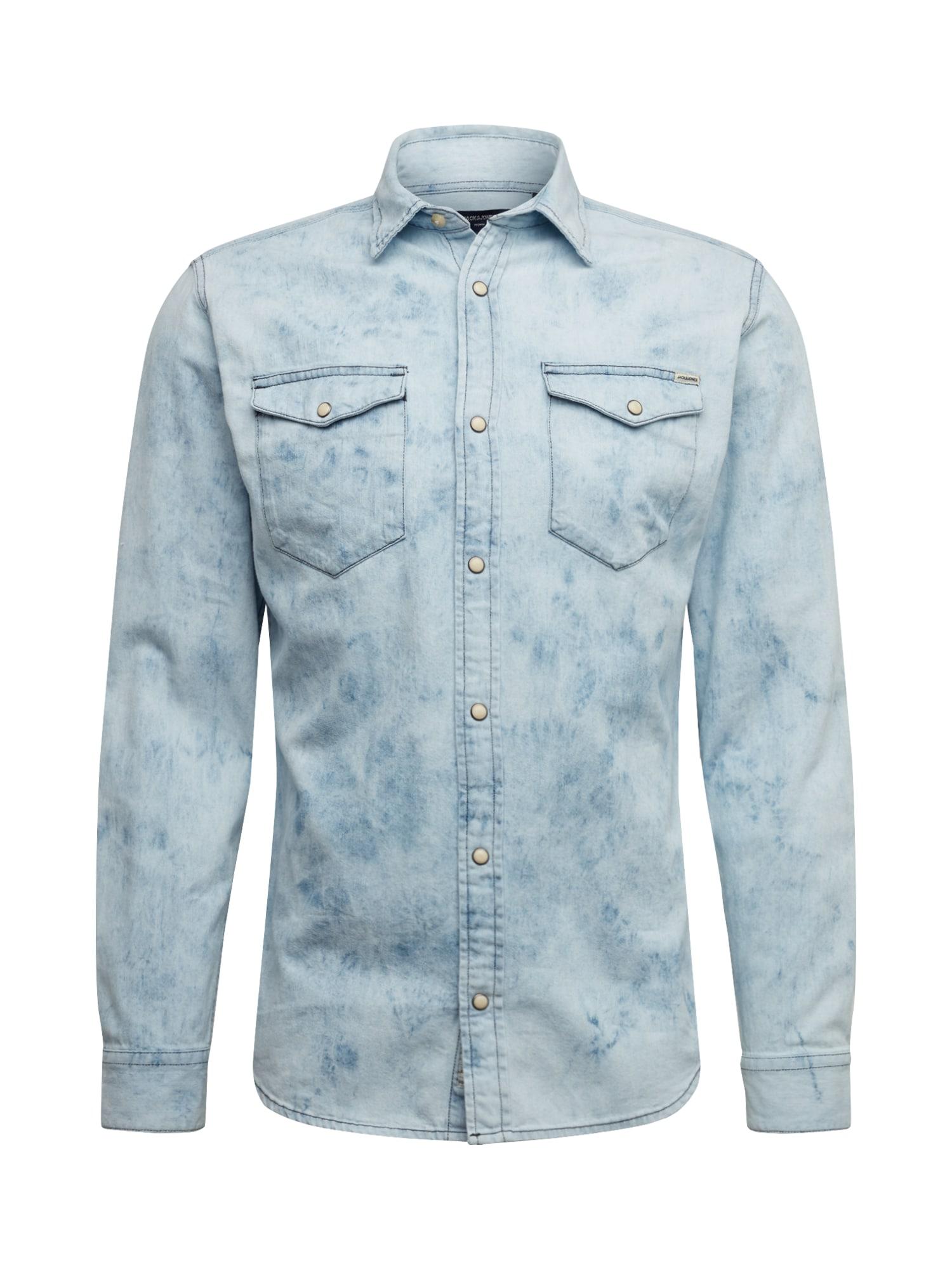 JACK & JONES Dalykiniai marškiniai 'BLUSHERIDAN' mėlyna