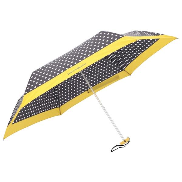 Regenschirme für Frauen - SAMSONITE Taschenschirm 'R Pattern' gelb schwarz weiß  - Onlineshop ABOUT YOU
