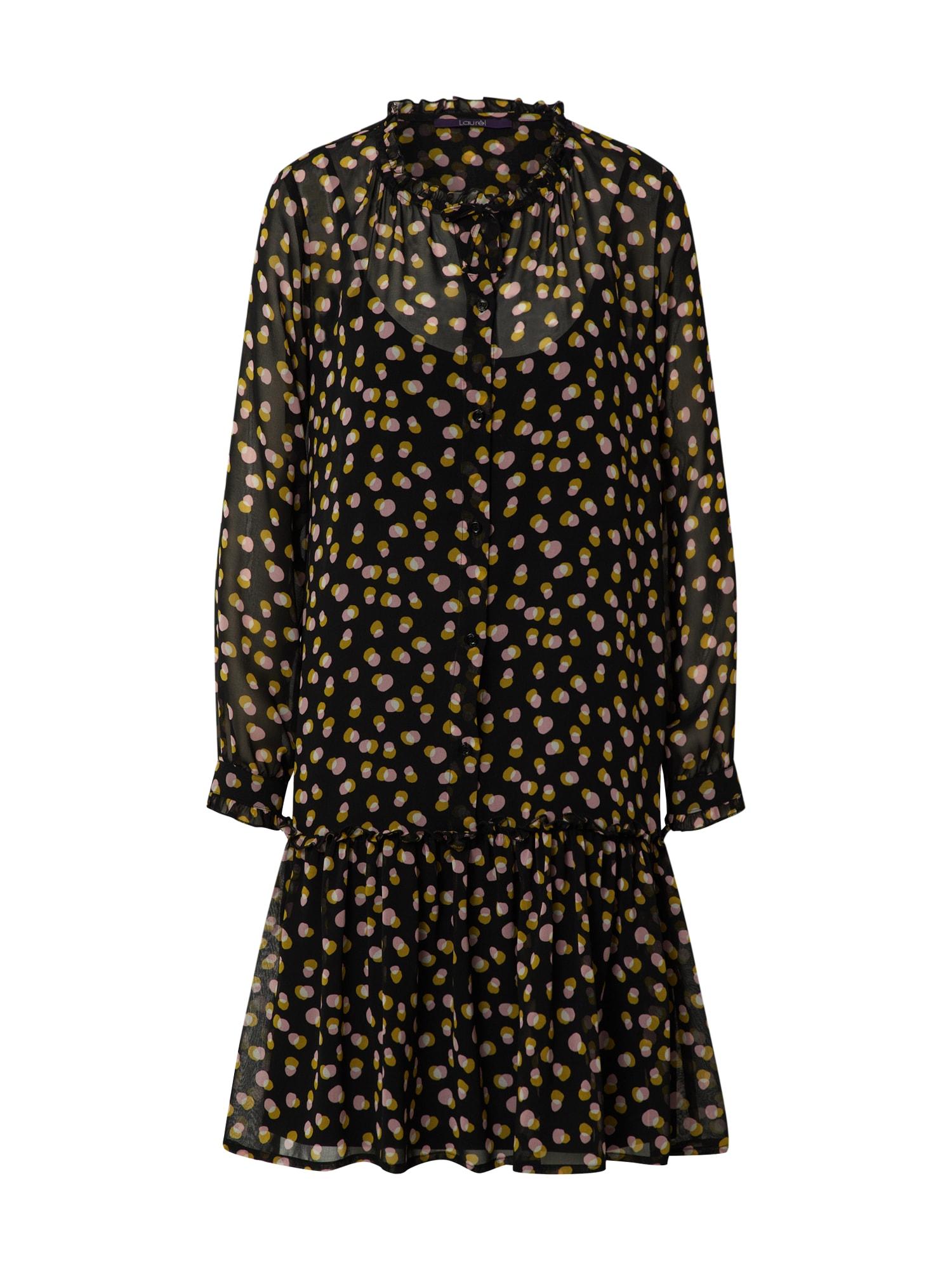 LAUREL Palaidinės tipo suknelė juoda / mišrios spalvos