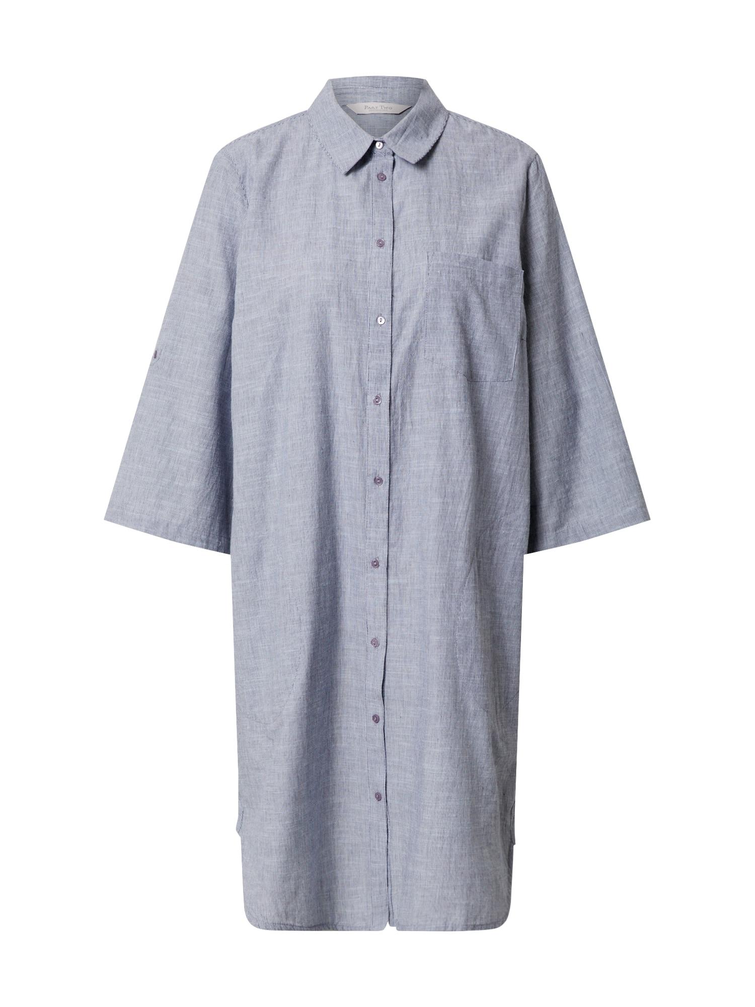 Part Two Košeľové šaty 'RivaPW TU'  námornícka modrá / biela