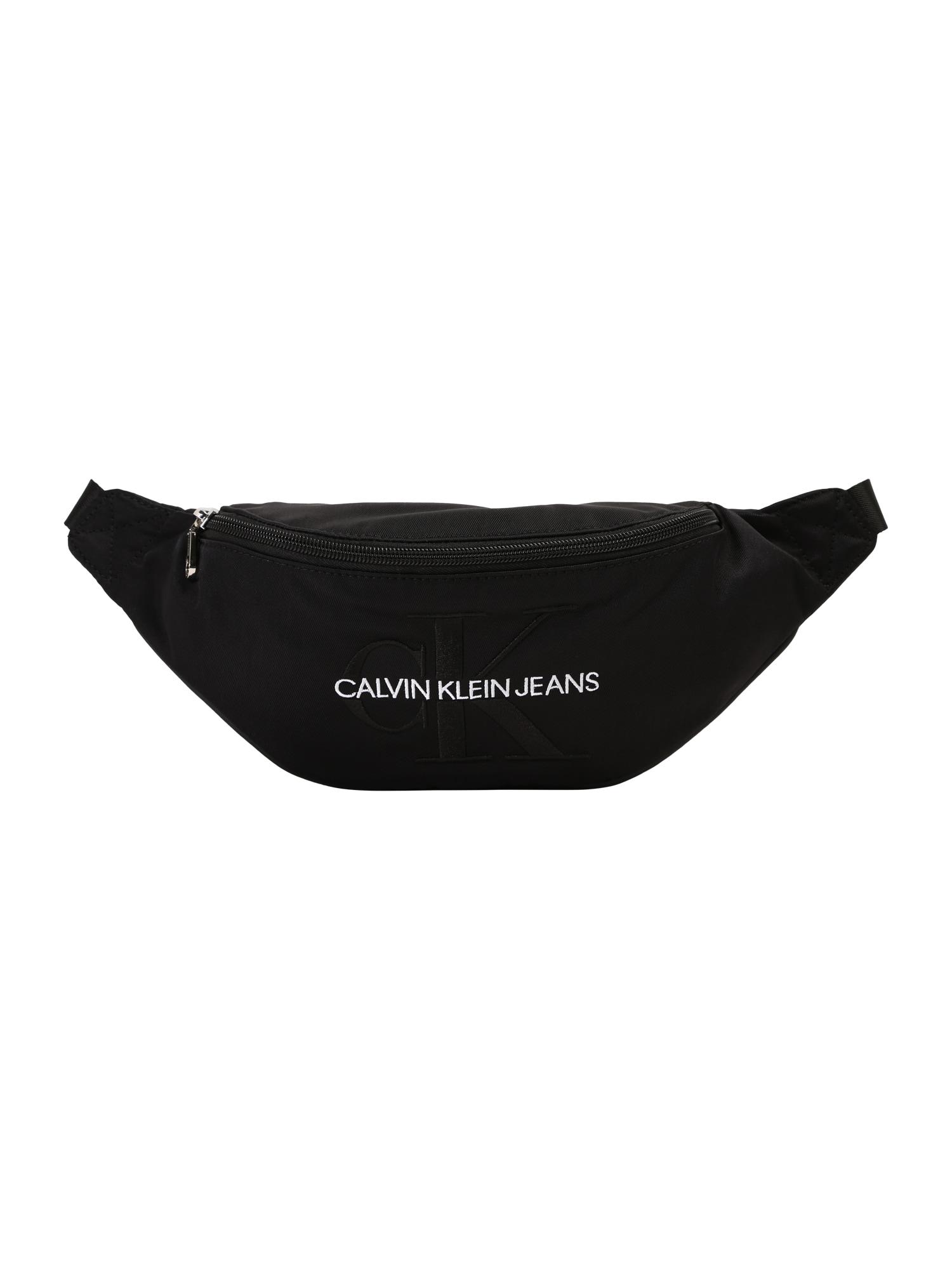 Calvin Klein Jeans Rankinė ant juosmens 'MONOGRAM STREET PACK' juoda