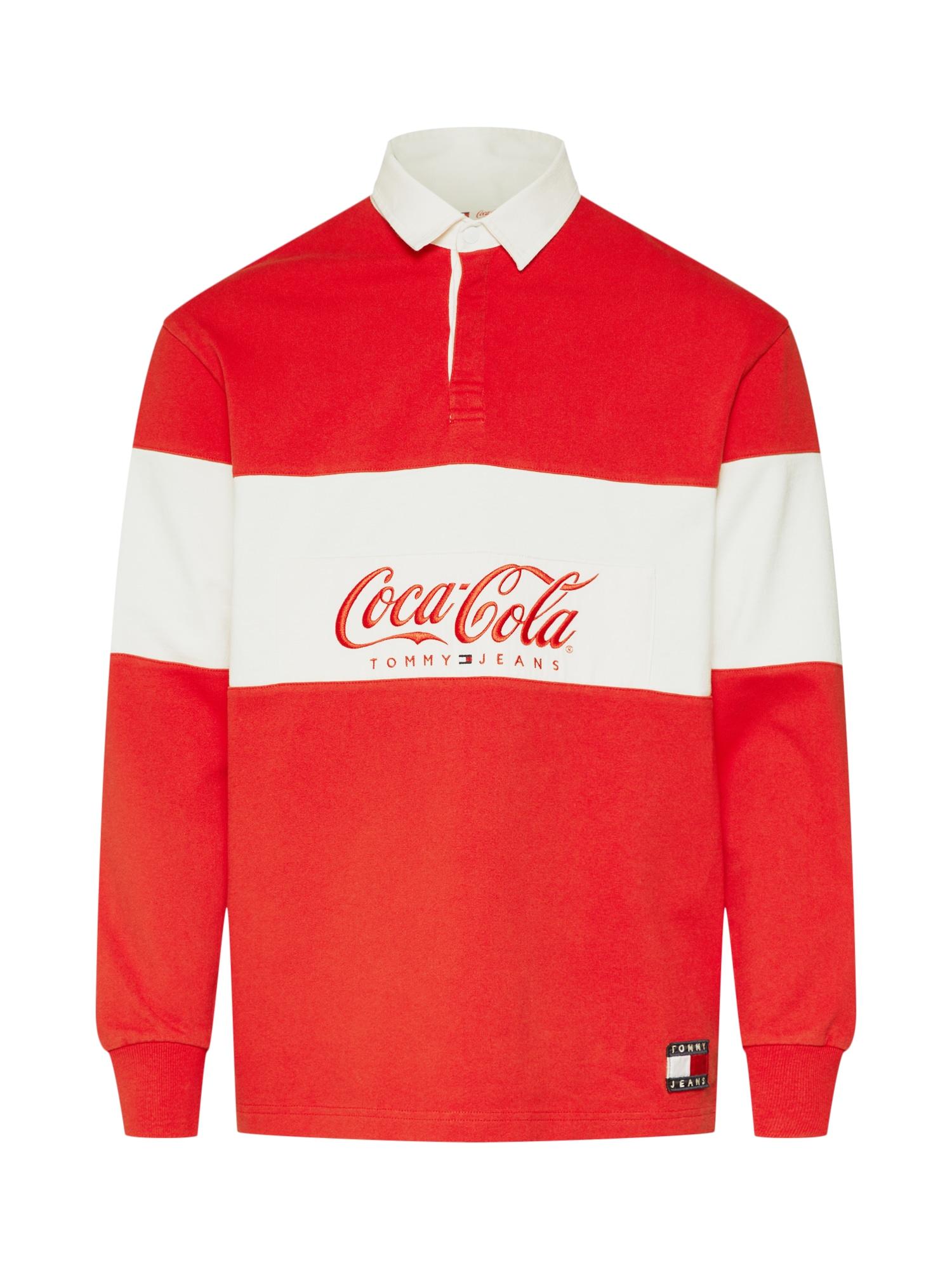 Tommy Jeans Mikina 'TOMMY X COCA-COLA'  červená / biela