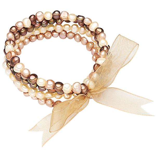 Armbaender für Frauen - Valero Pearls Armband mit Süßwasser Zuchtperlen braun hellbraun naturweiß  - Onlineshop ABOUT YOU