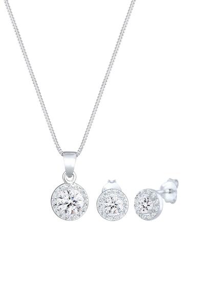 Schmucksets für Frauen - Schmuckset Kristall Kette, Kristall Ring, Solitär Kette › ELLI PREMIUM › silber  - Onlineshop ABOUT YOU