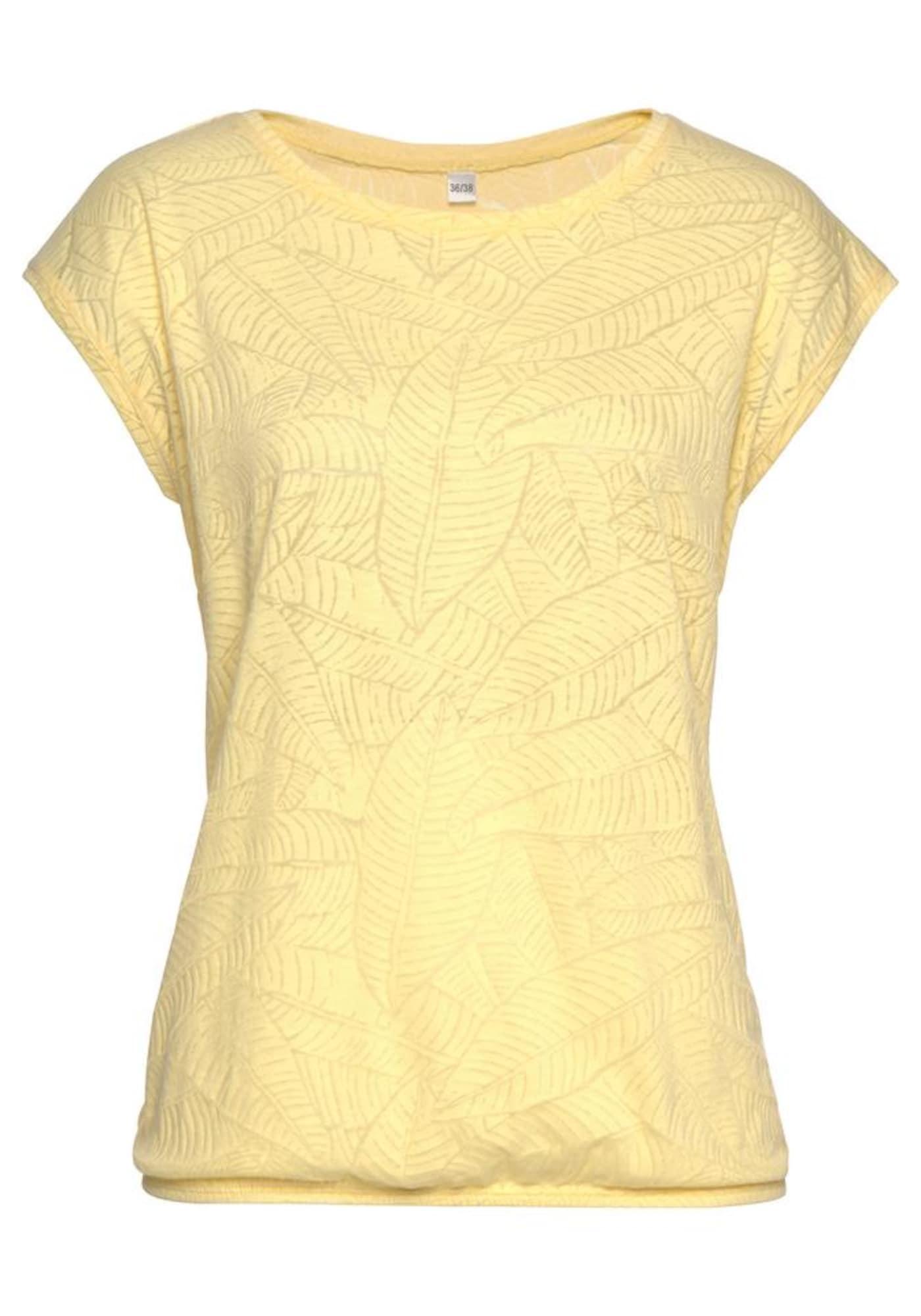 BEACH TIME Marškinėliai geltona / mėtų spalva