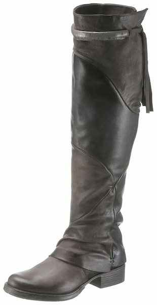 Stiefel - Overkneestiefel › MJUS › taupe dunkelgrau silber  - Onlineshop ABOUT YOU