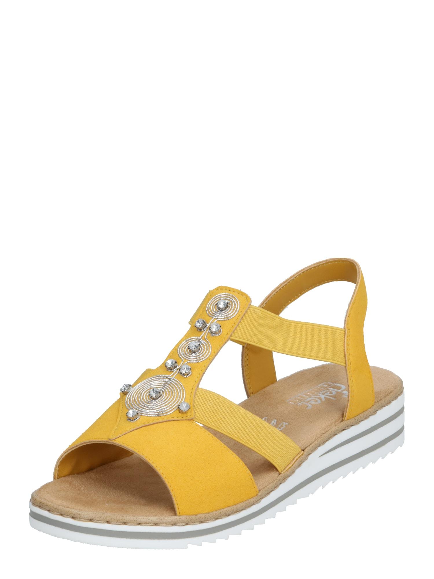 RIEKER Sandalai geltona