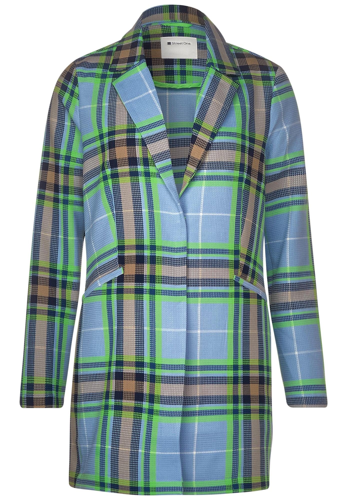 STREET ONE Rudeninis-žieminis paltas šviesiai žalia / mėlyna / šviesiai mėlyna / šviesiai ruda