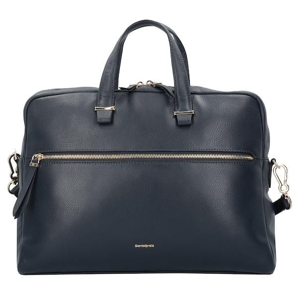 Businesstaschen für Frauen - SAMSONITE Highline II Aktentasche Leder 41 cm Laptopfach navy  - Onlineshop ABOUT YOU