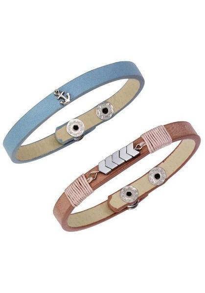 Armbaender für Frauen - J. Jayz Armband Set rauchblau rosé silber  - Onlineshop ABOUT YOU