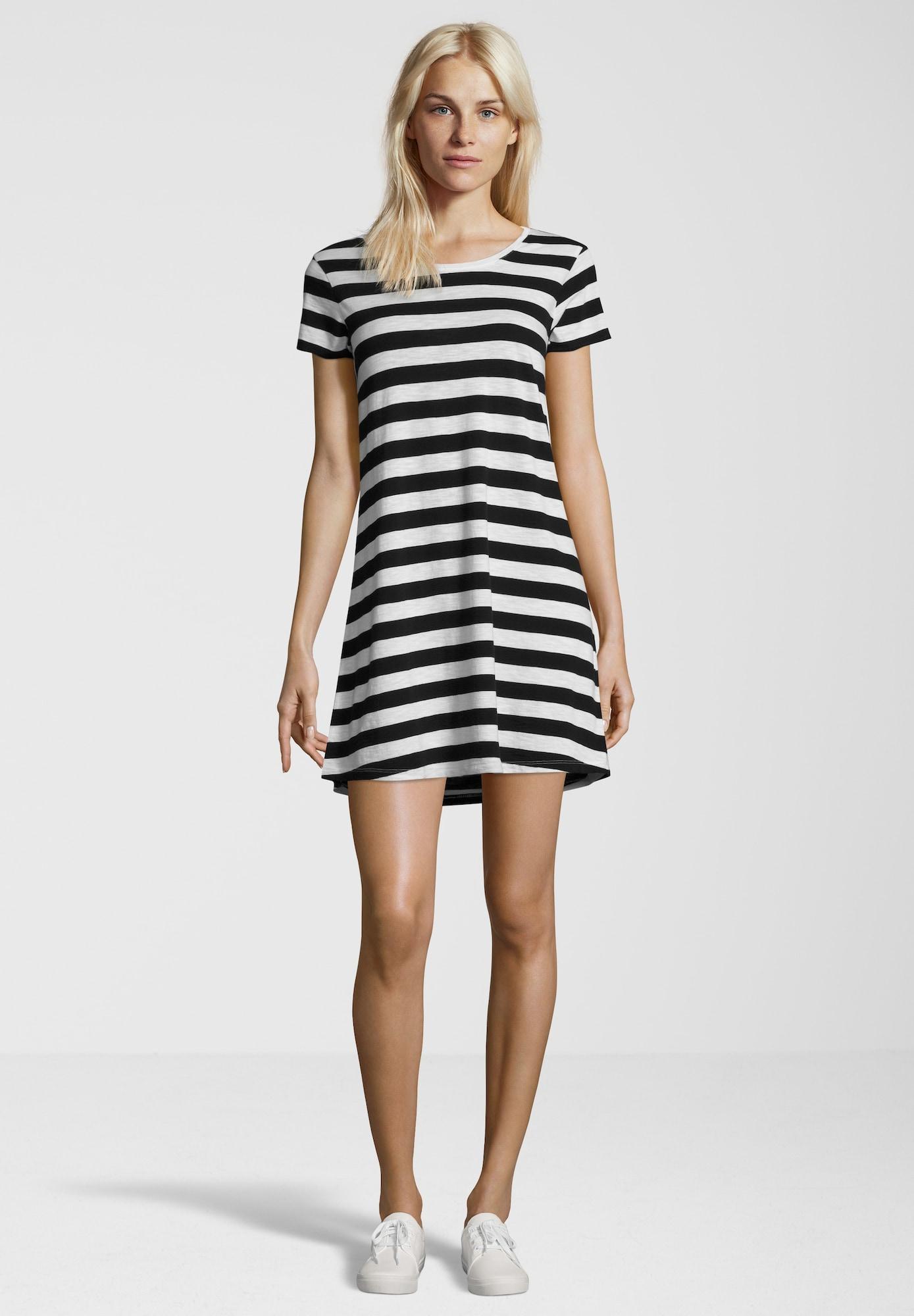 Juvia Kleid schwarz / weiß - Schwarzes Kleid