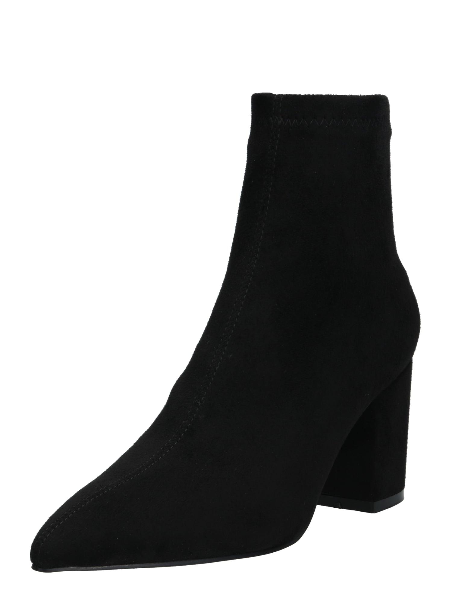 NA-KD Kulkšnis dengiantys batai 'basic pointy block heel booties' juoda