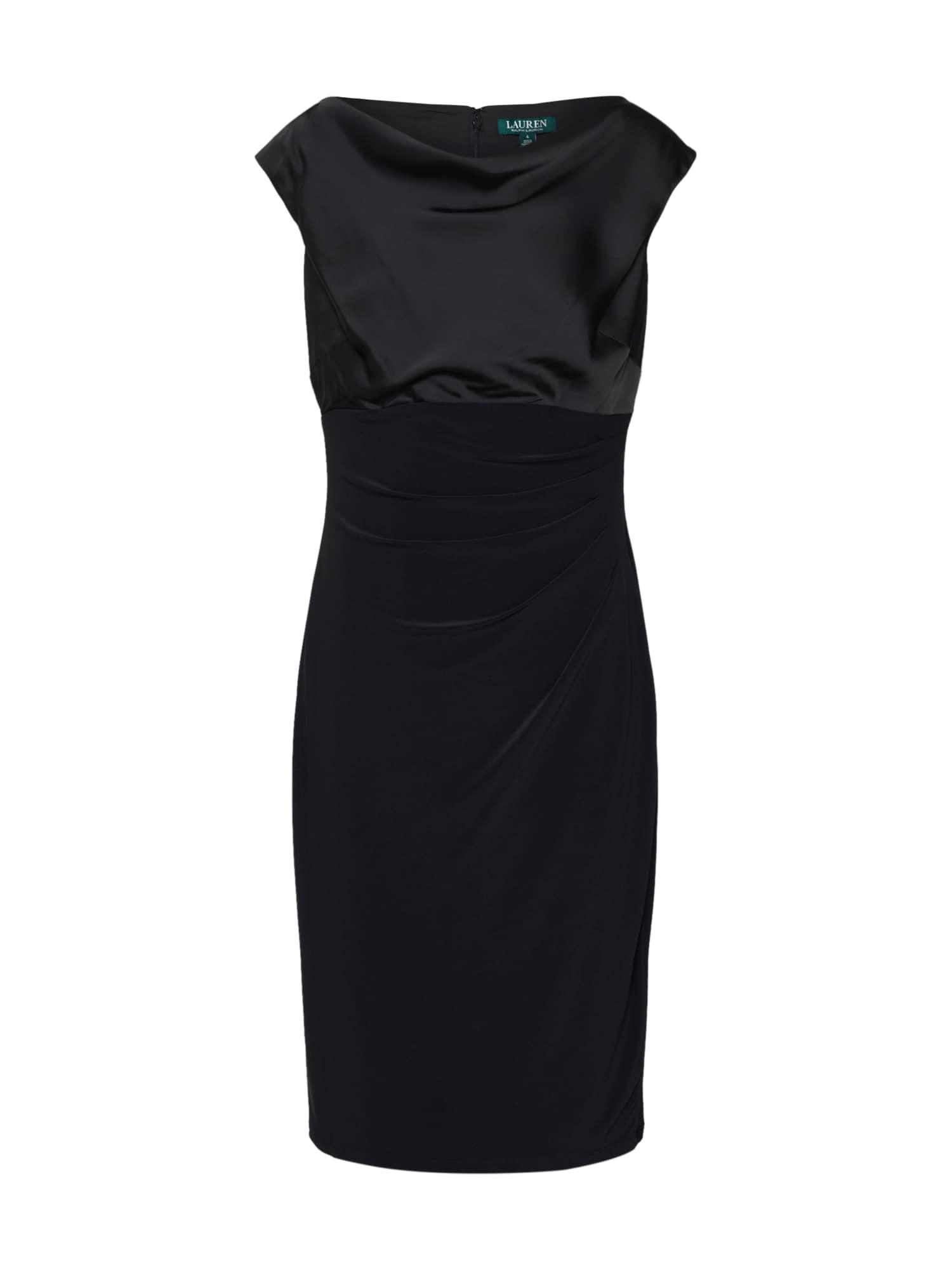 Lauren Ralph Lauren Rochie 'chelley-cap sleeve-day dress'  negru