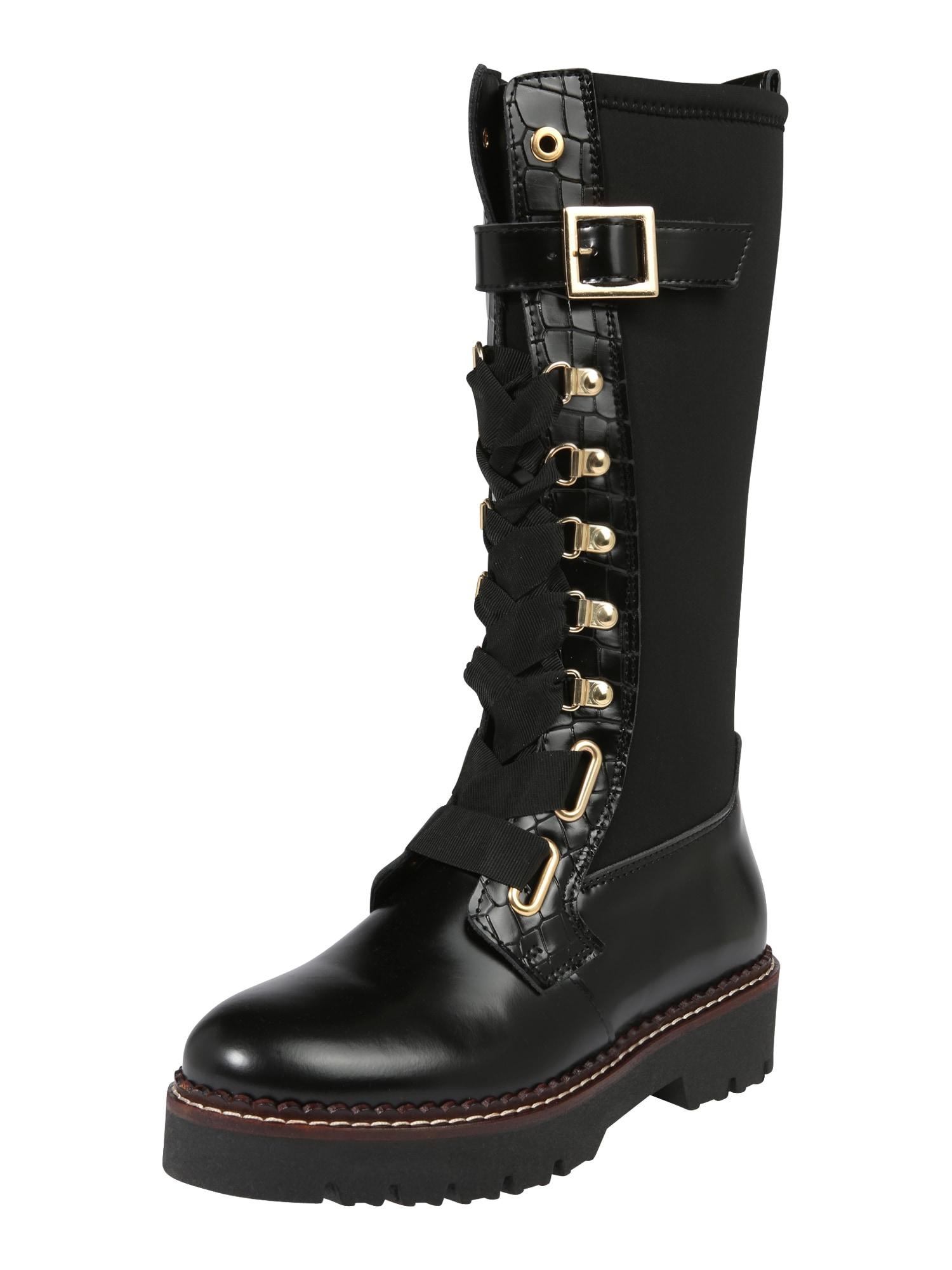 SCOTCH & SODA Suvarstomieji batai 'Olivine' juoda