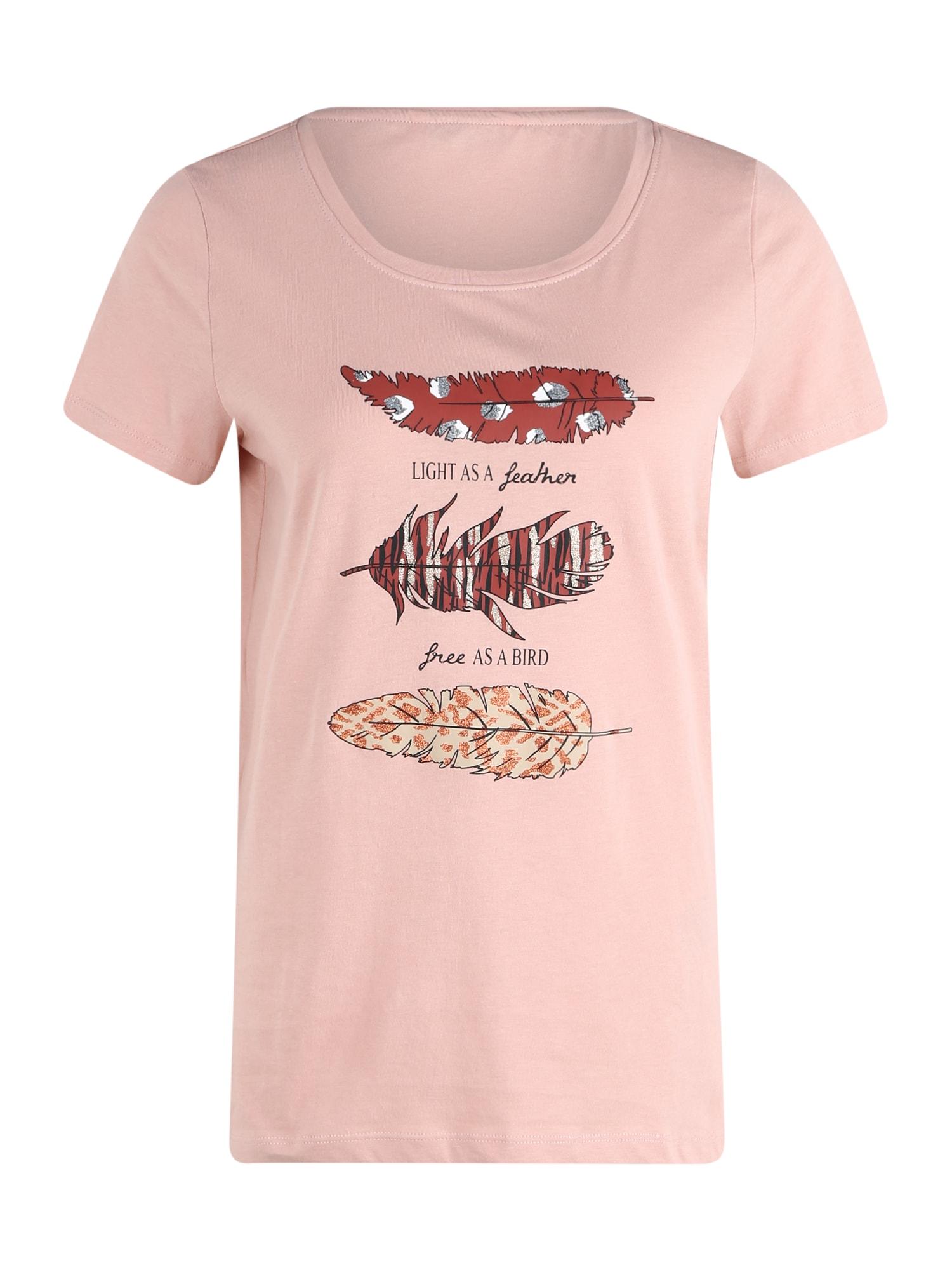 ONLY Tričko 'Kita'  růžová / pink / tmavě oranžová