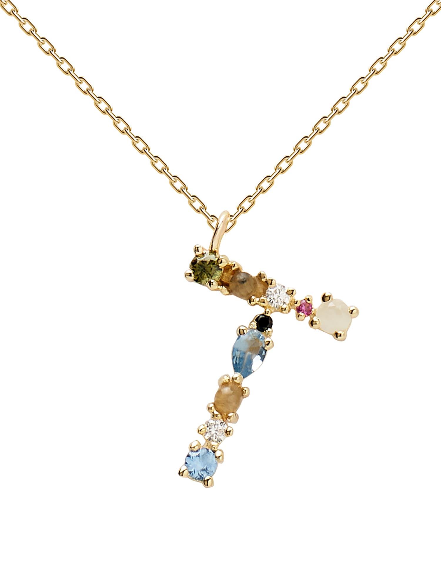 P D PAOLA Grandinėlė auksas / šviesiai žalia / šviesiai mėlyna / dangaus žydra / orchidėjų spalva