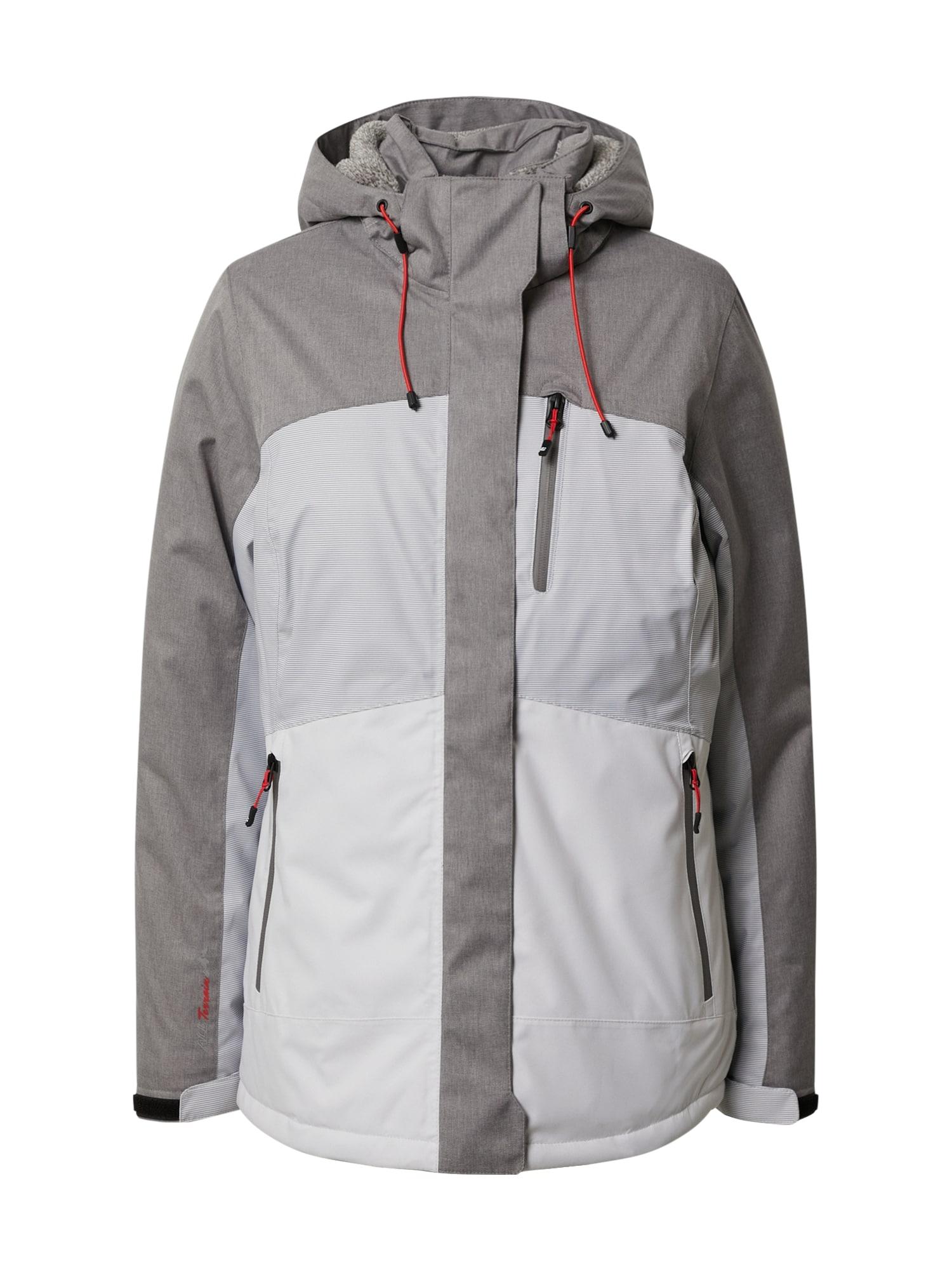 KILLTEC Funkční bunda 'Ostfold'  světle šedá / šedá