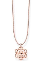 THOMAS SABO Damen Kette mit Anhänger Little Secrets Choker  Lotusblüte  LSKE010-898-19-L80v beige,gold | 04051245323283