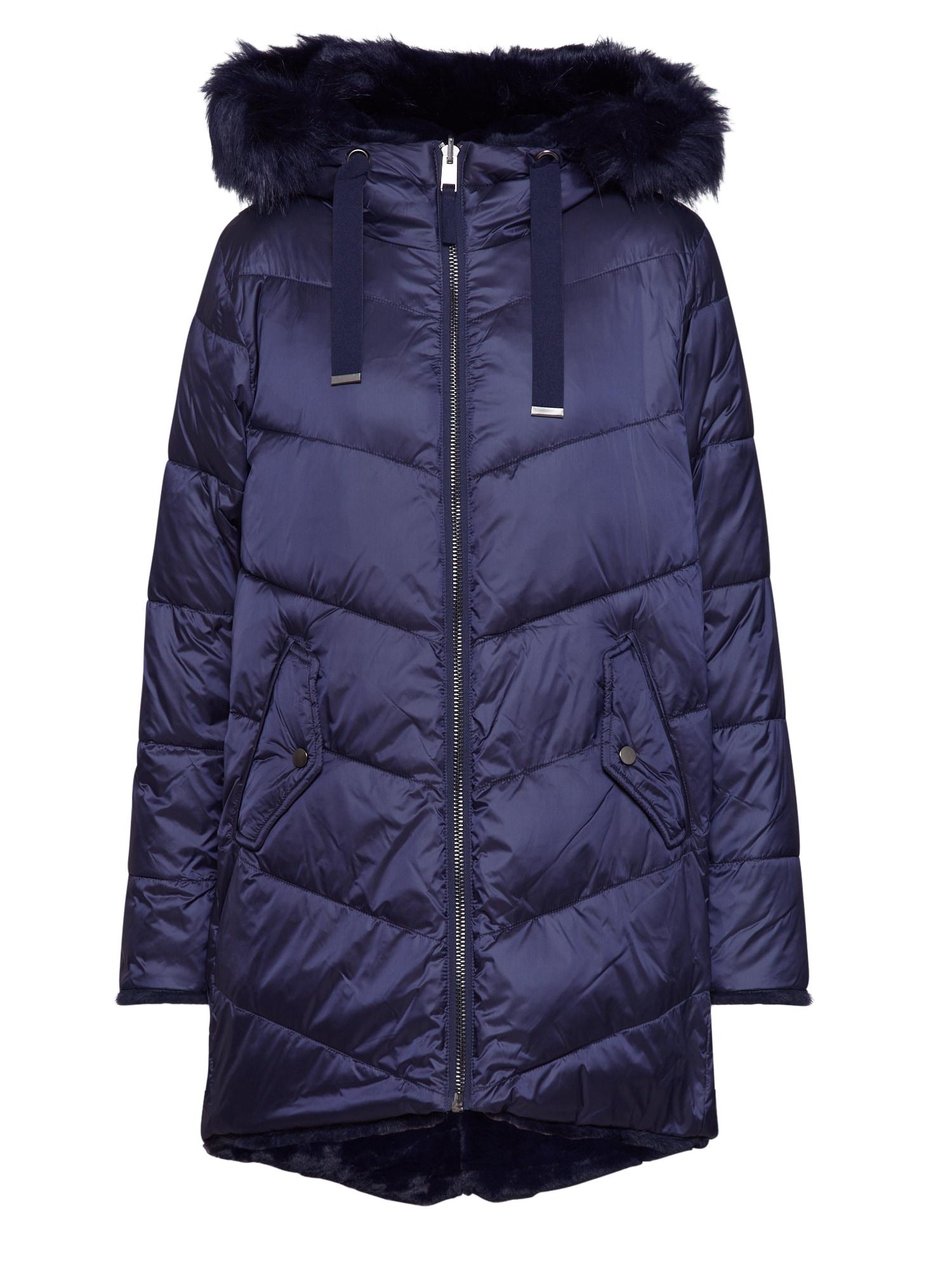 ESPRIT Demisezoninė striukė 'Reversible coat' tamsiai mėlyna