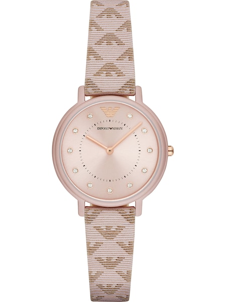 Uhren für Frauen - Emporio Armani Damenuhr 'AR11010' creme rosegold  - Onlineshop ABOUT YOU