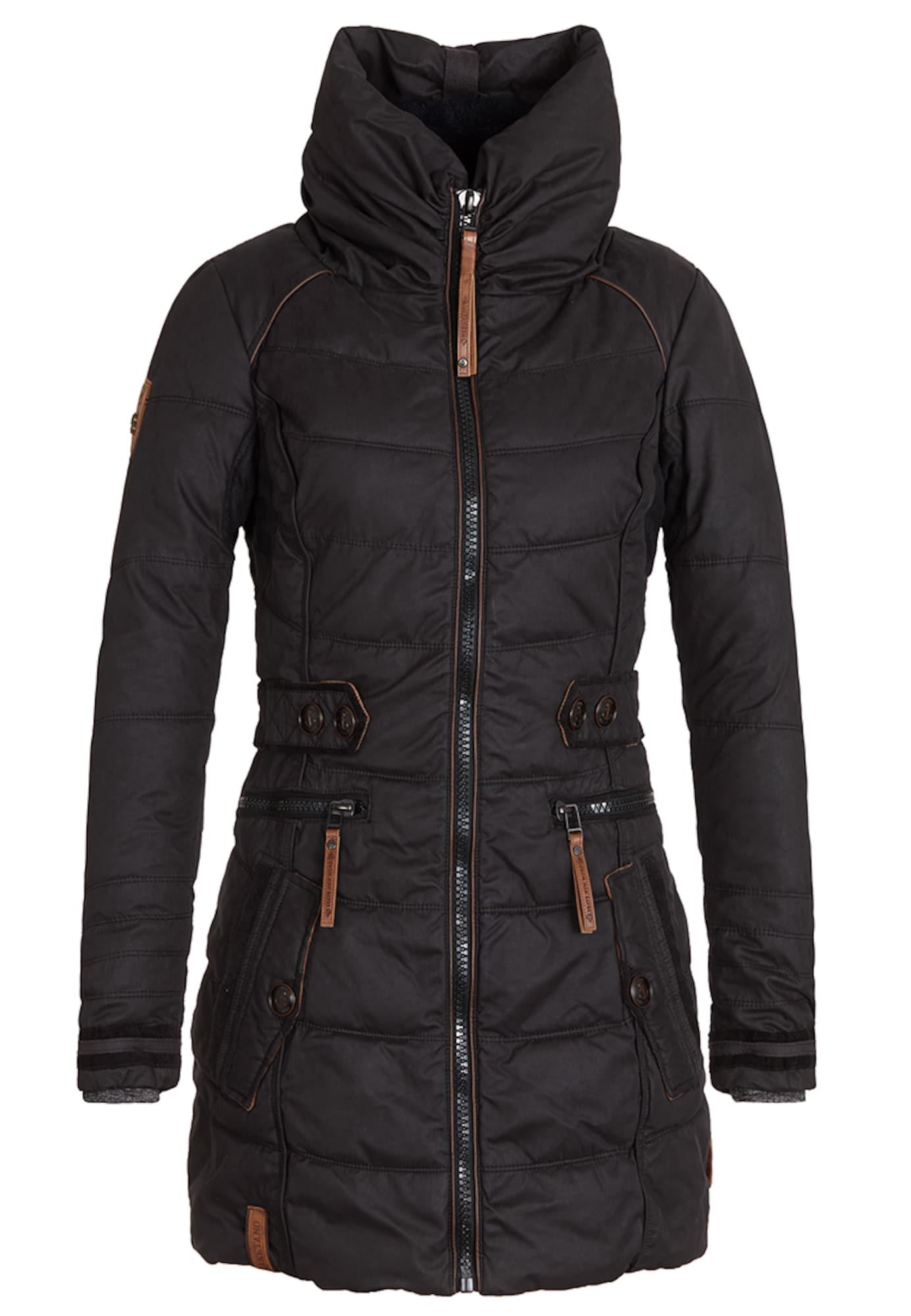 naketano Žieminis paltas 'Knastrologin' šokolado spalva