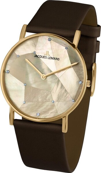 Uhren - Uhr 'York, 1 2050E' › Jacques Lemans › braun gold  - Onlineshop ABOUT YOU