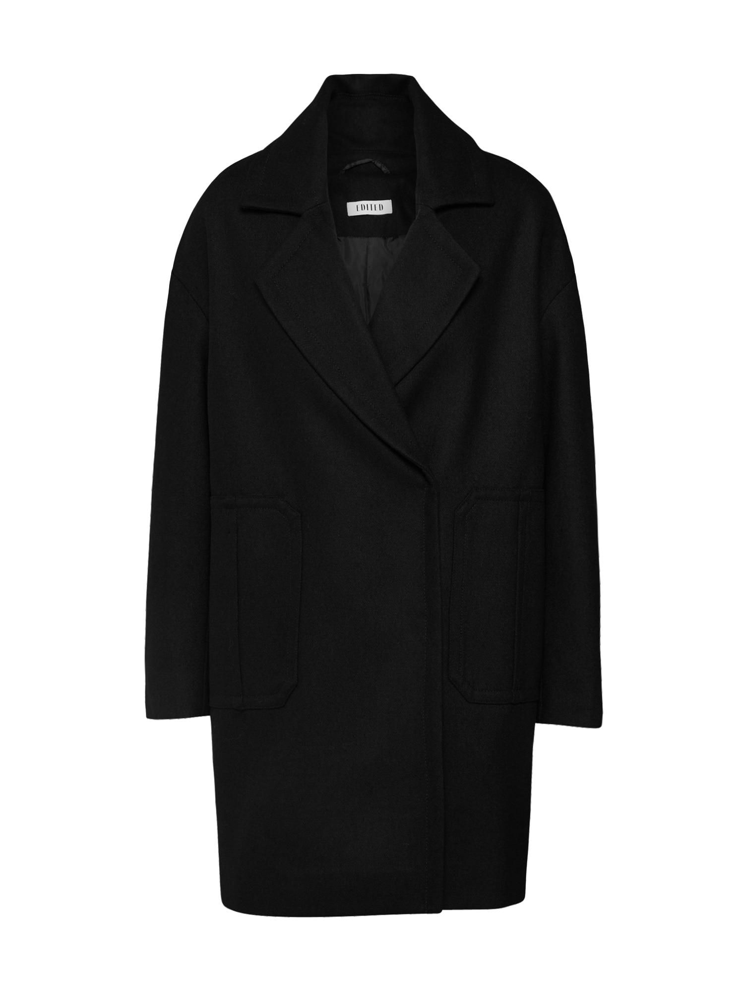 EDITED Žieminis paltas 'Emilia' juoda