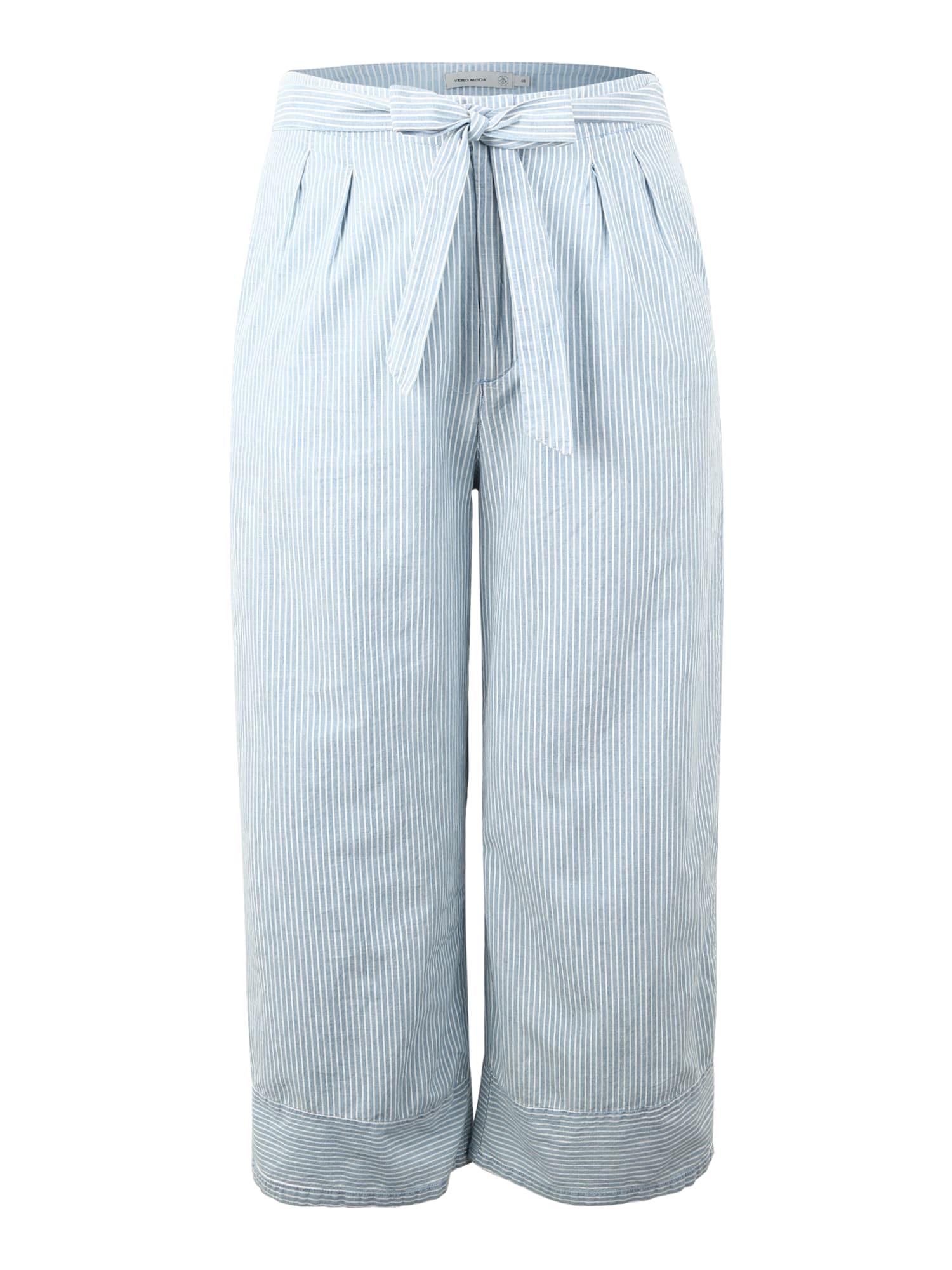 Kalhoty MIA světlemodrá bílá Vero Moda Curve