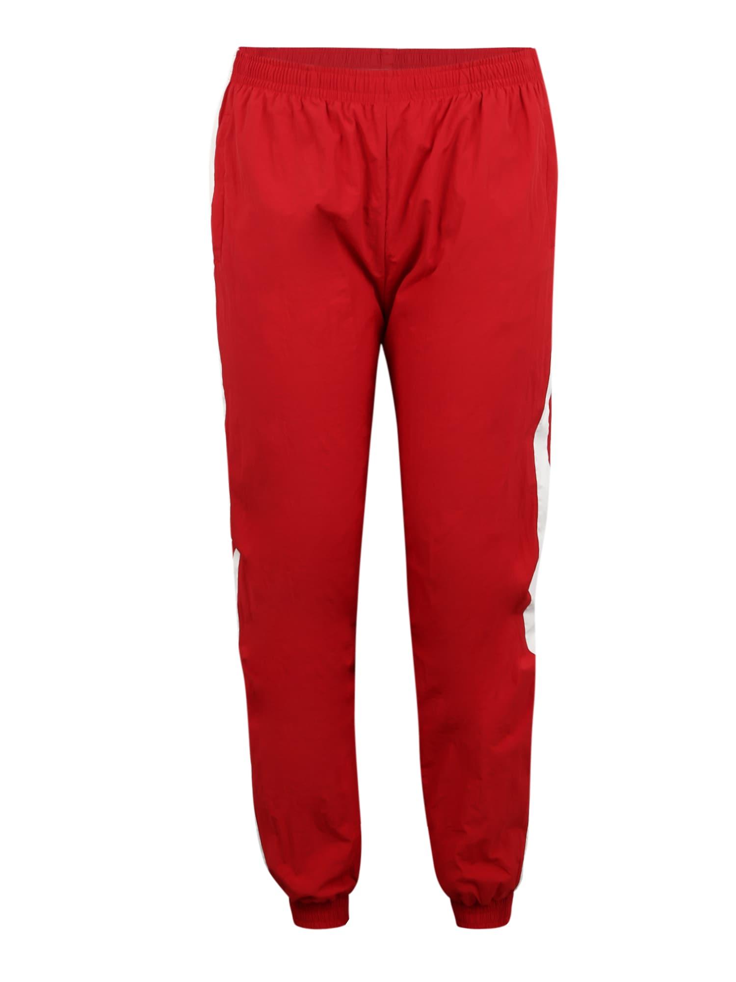 Urban Classics Curvy Kelnės balta / raudona